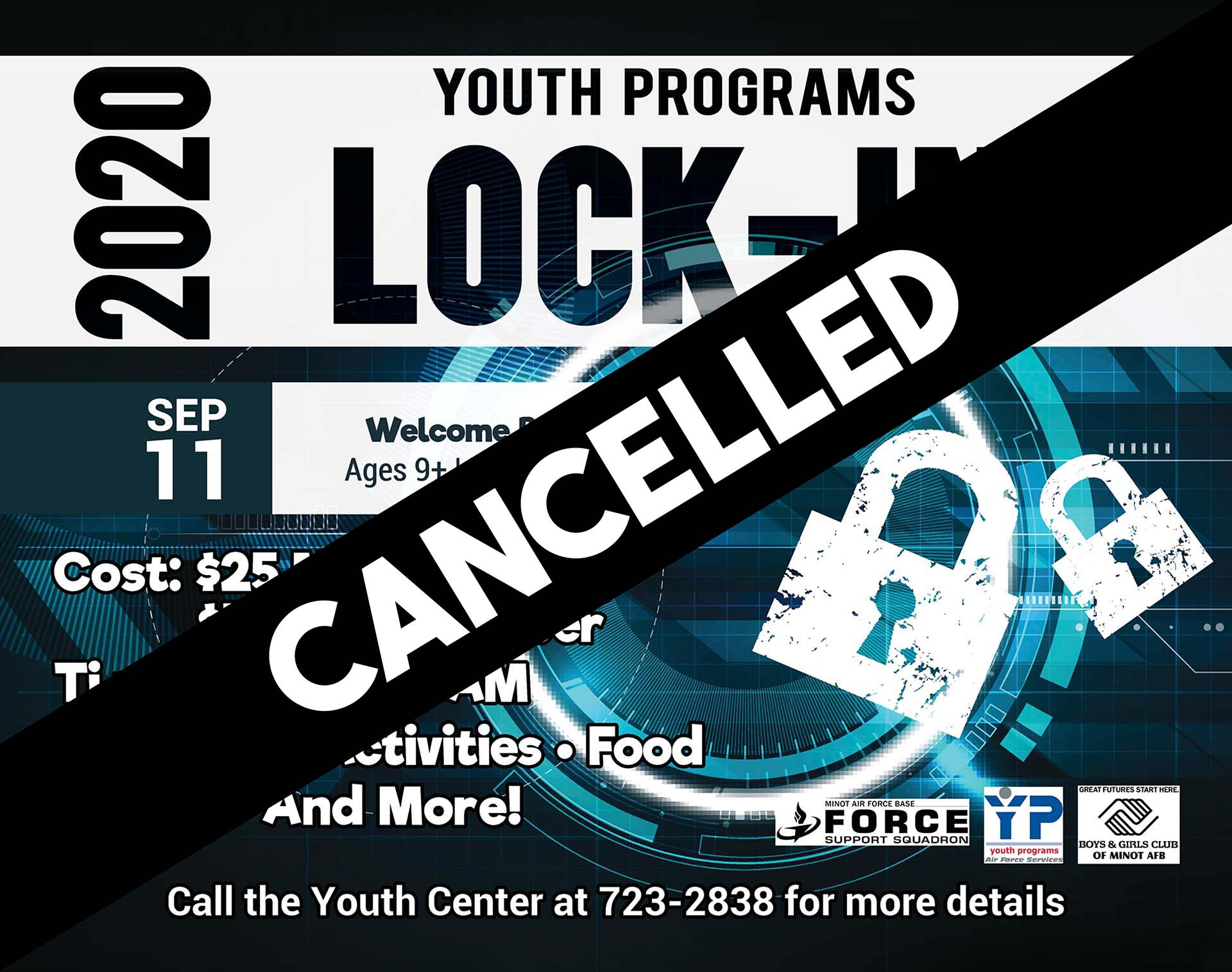 Welcome Back Lock-In - CANCELLED