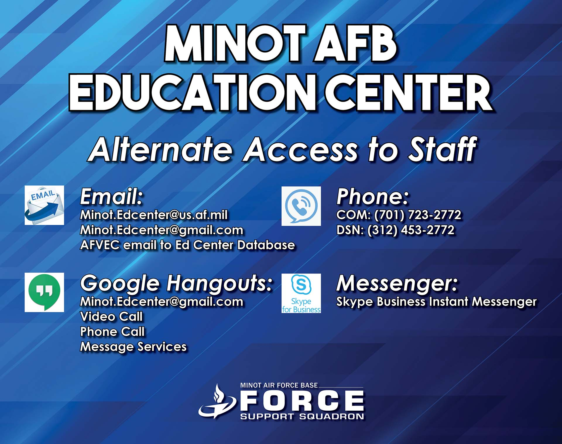 Education Center - Alternate Access to Staff
