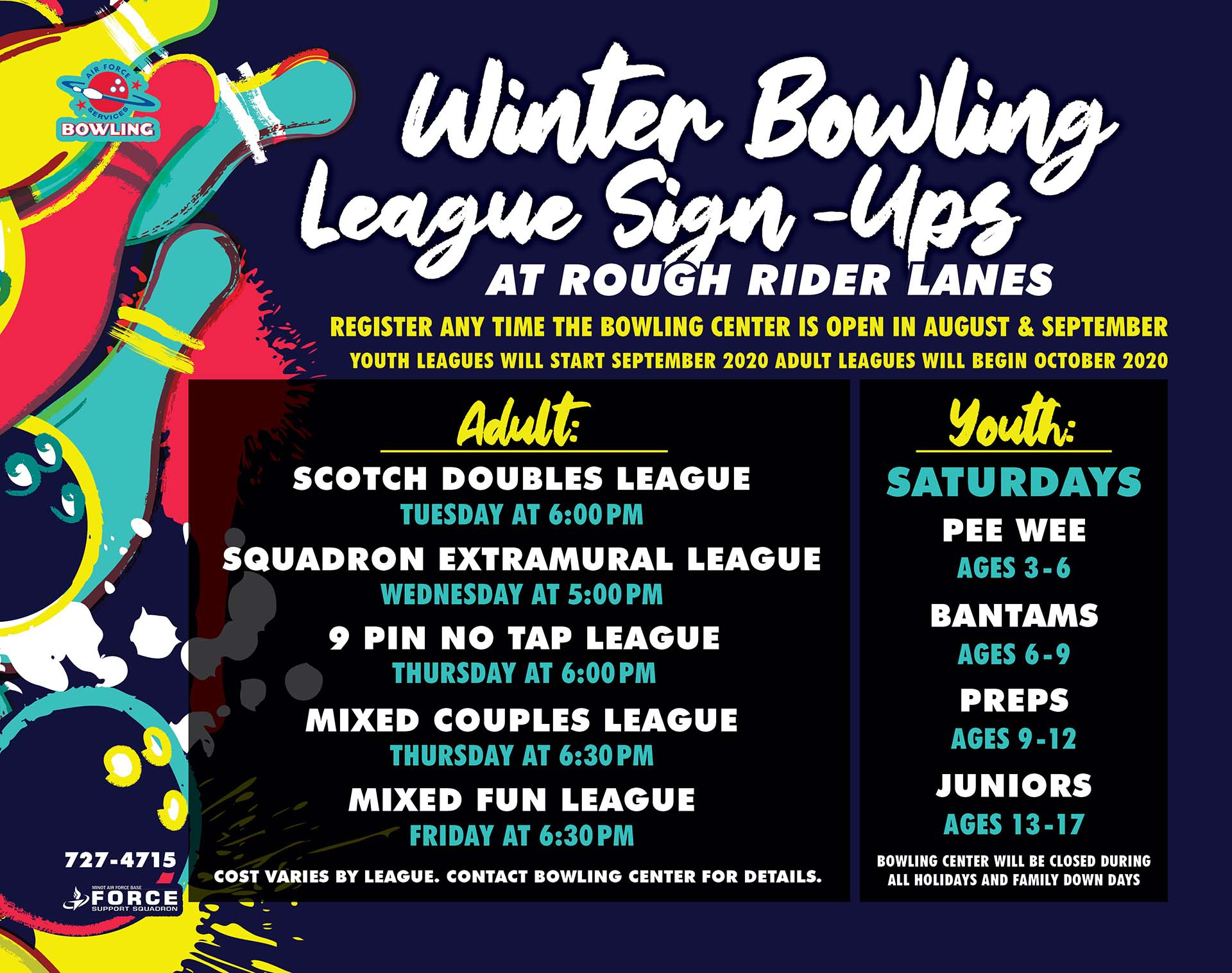 Winter Bowling League Registration Continues