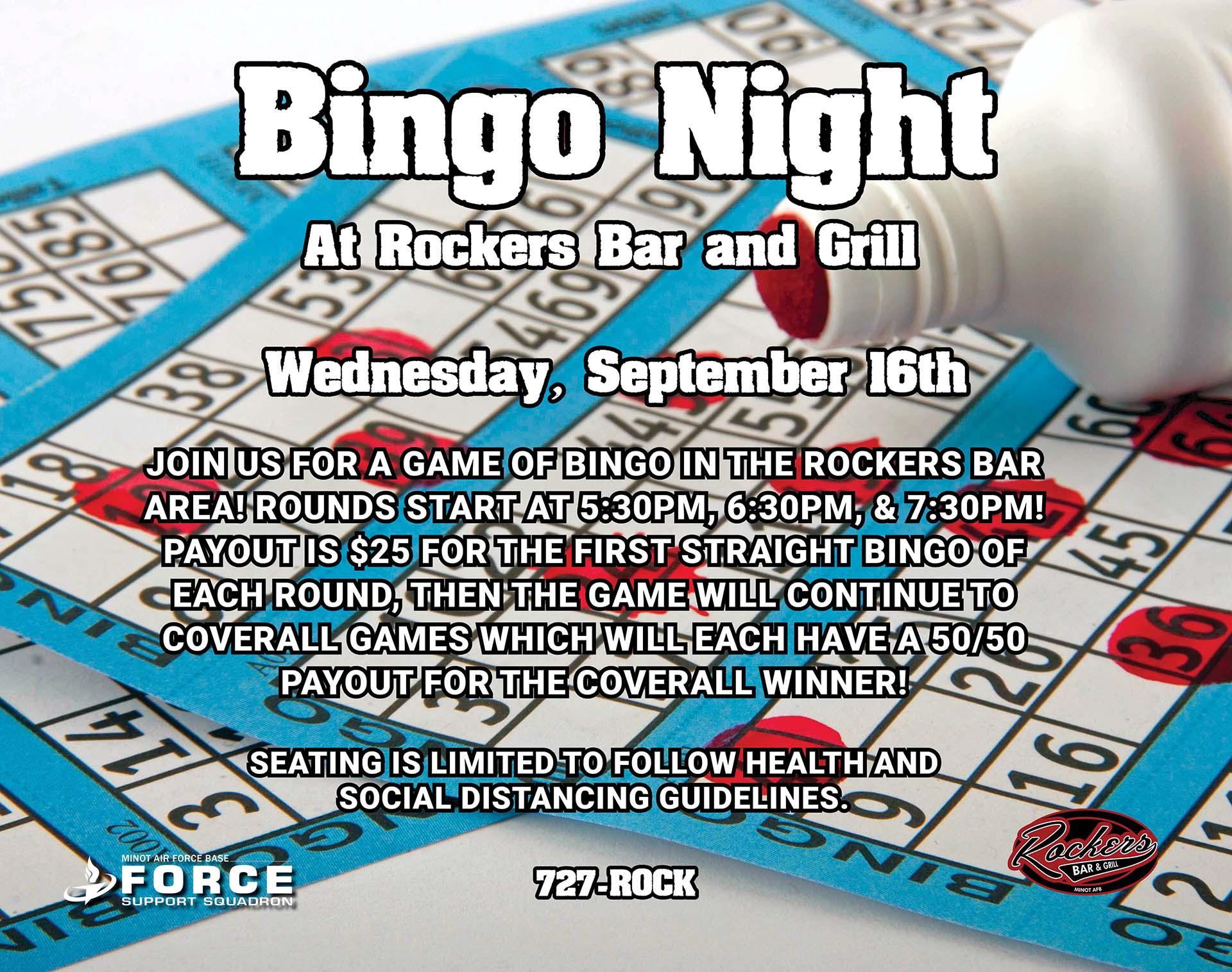 Wednesday Night Bingo