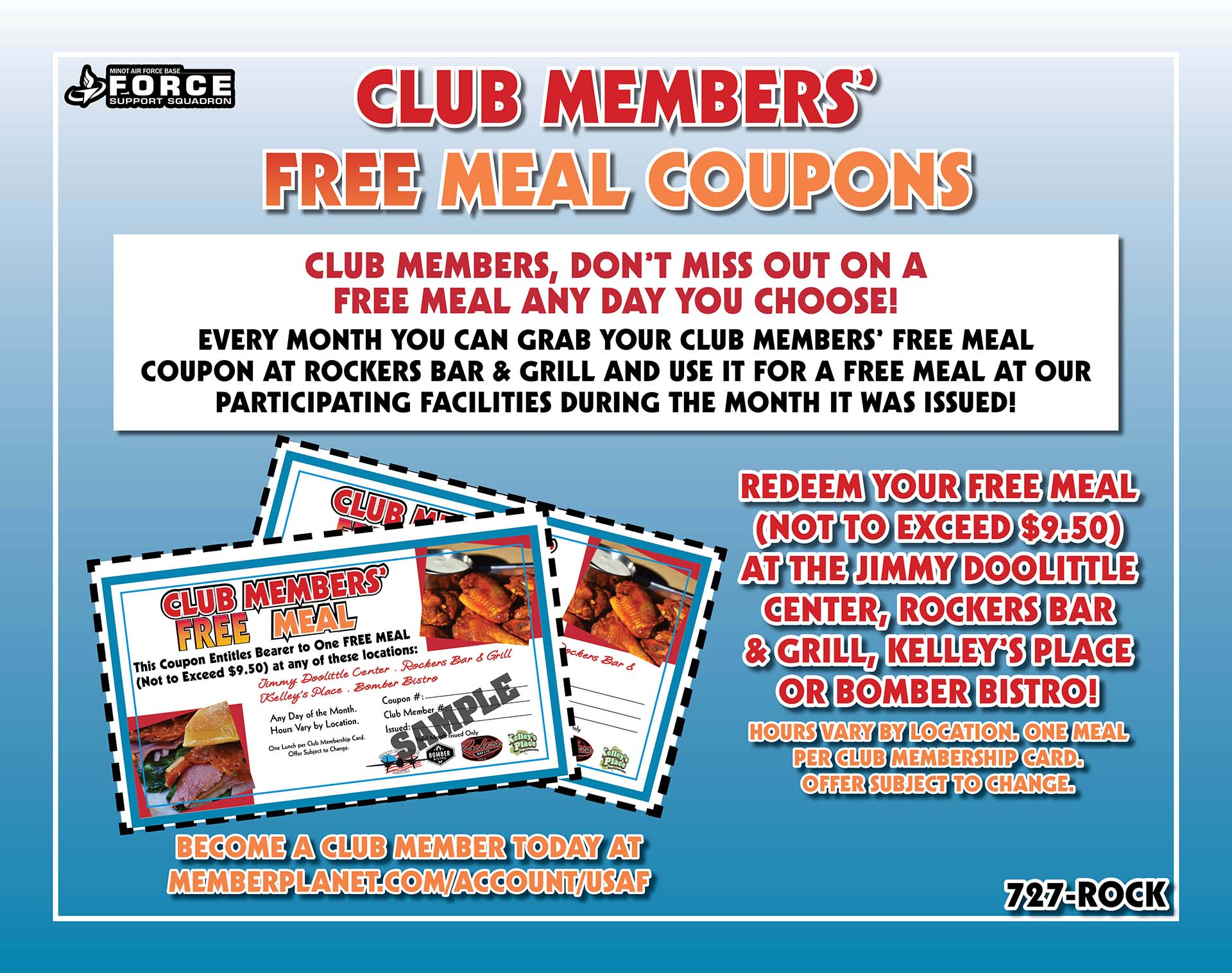 Club Member Coupons Poster - Sept 20