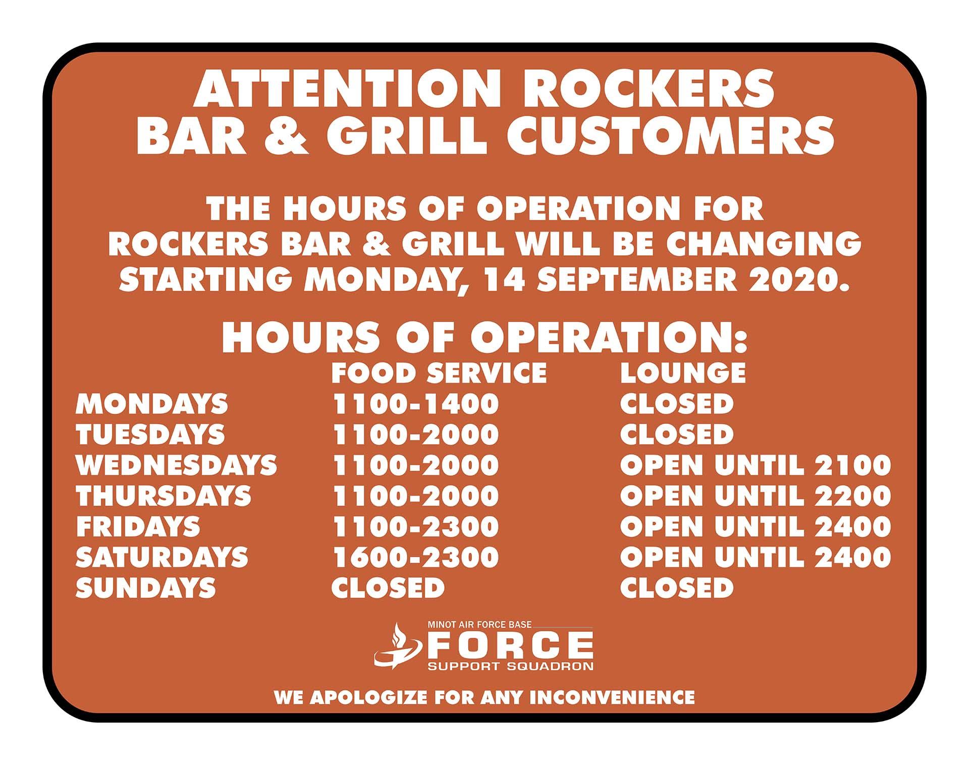 Rockers Bar & Grill - New Hours - L