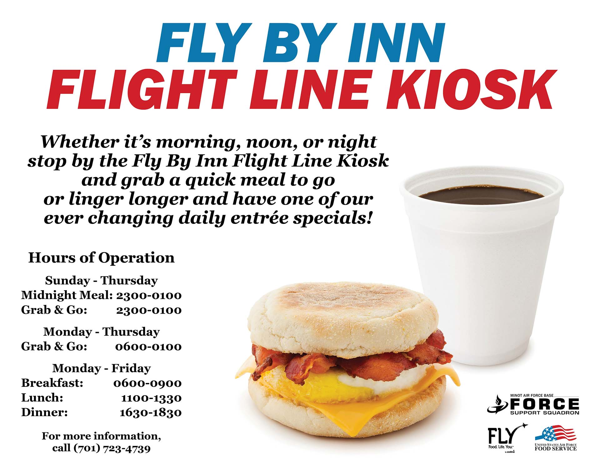 Fly By Inn Flight Line Kiosk - New Graphic