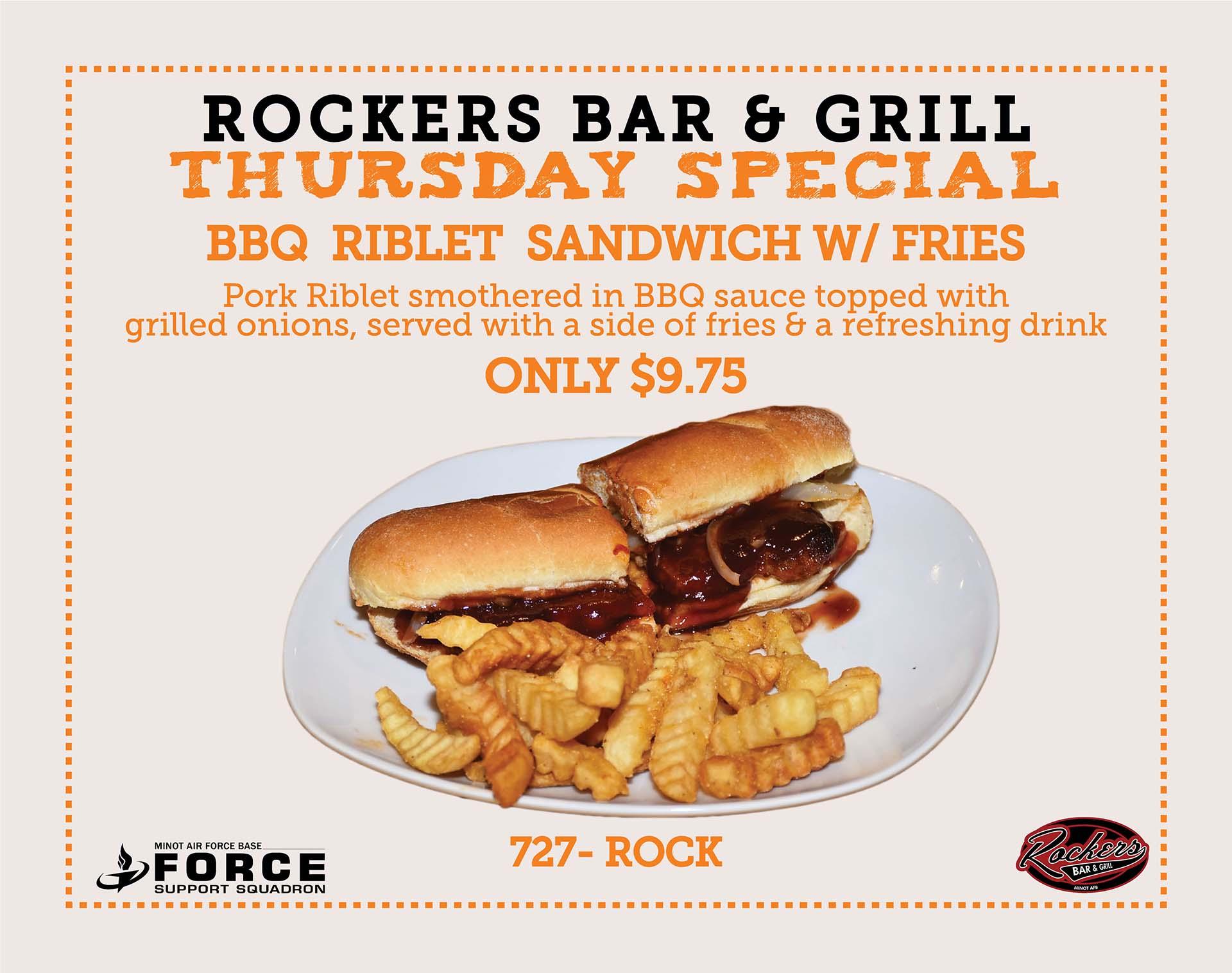 Rockers - Thursday Special- Sept 20