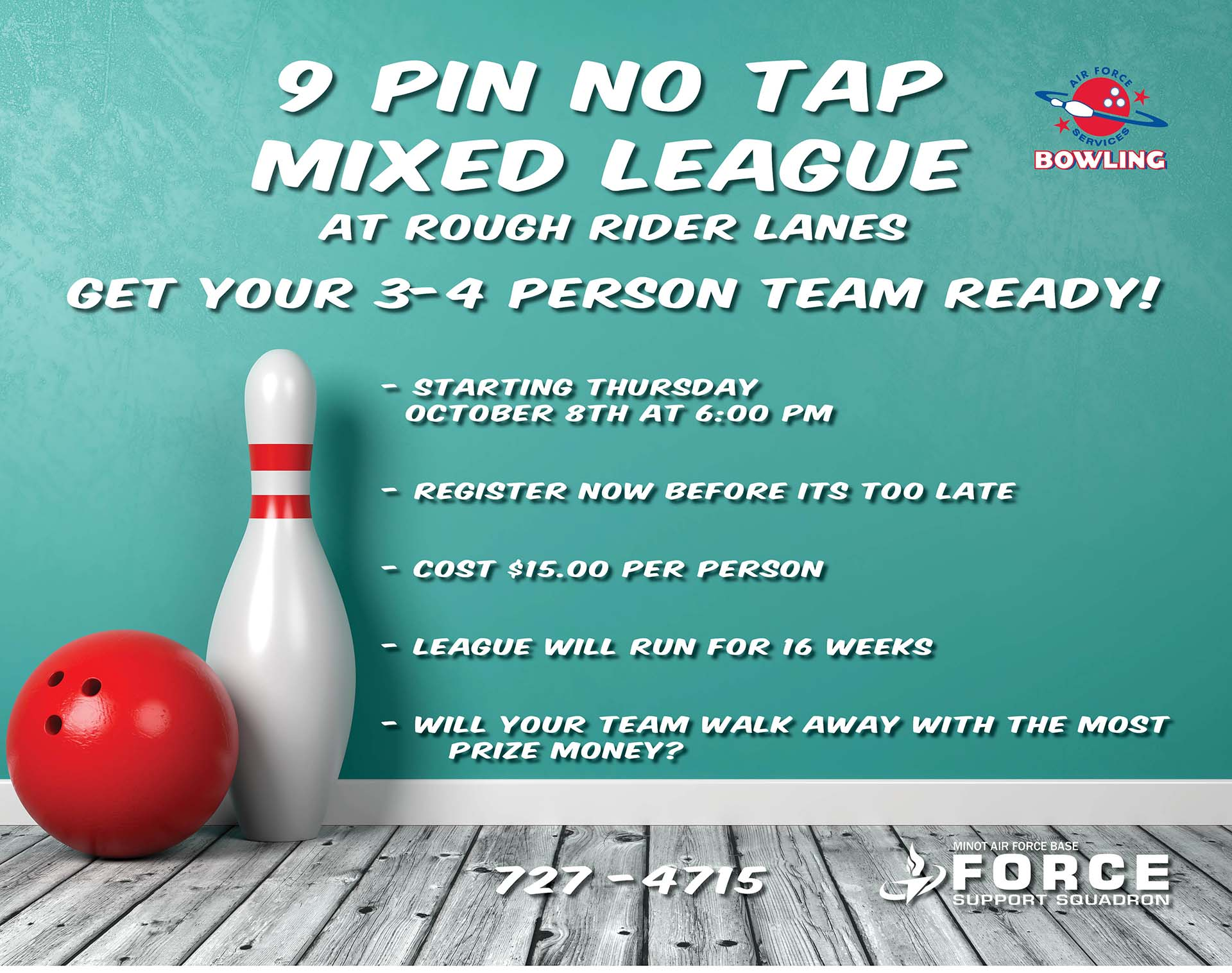 Fun 9 Pin No Tap League