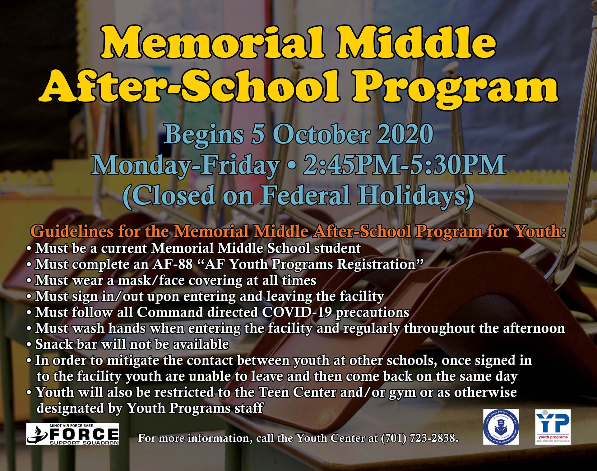 Memorial Middle After-School Program Begins