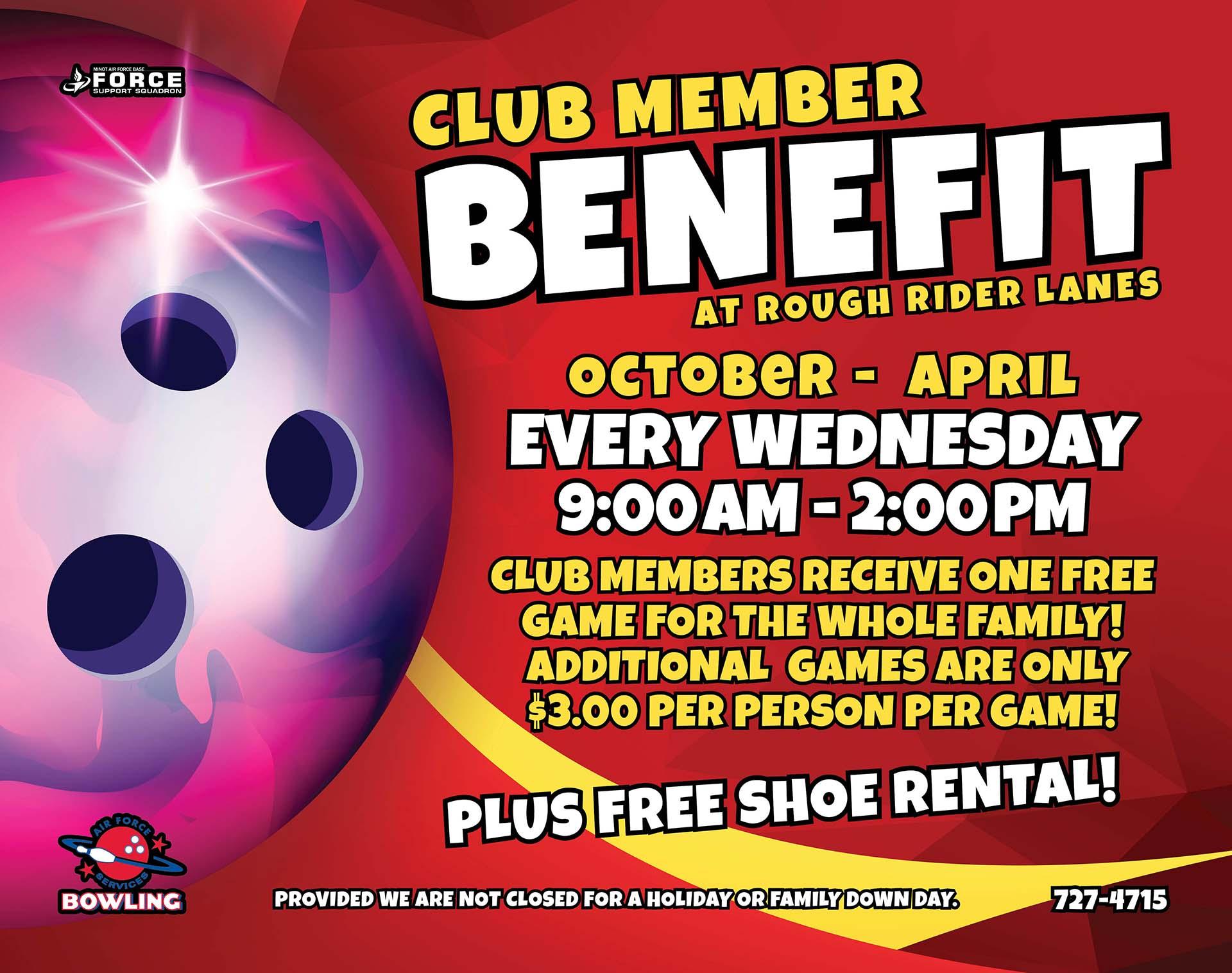 Club Member Benefit