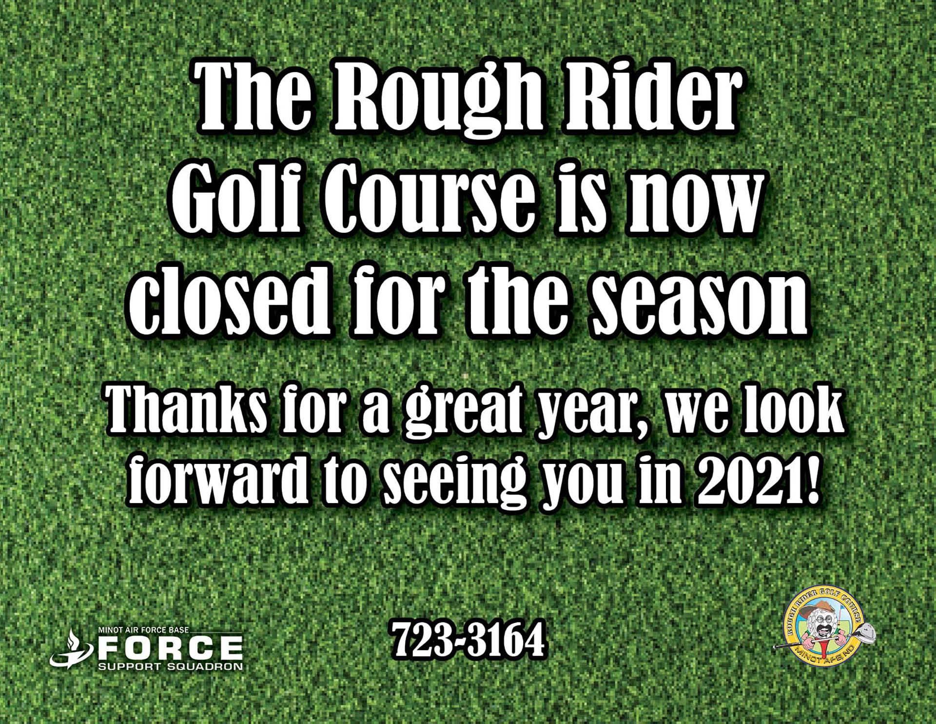 Golf Closed for season