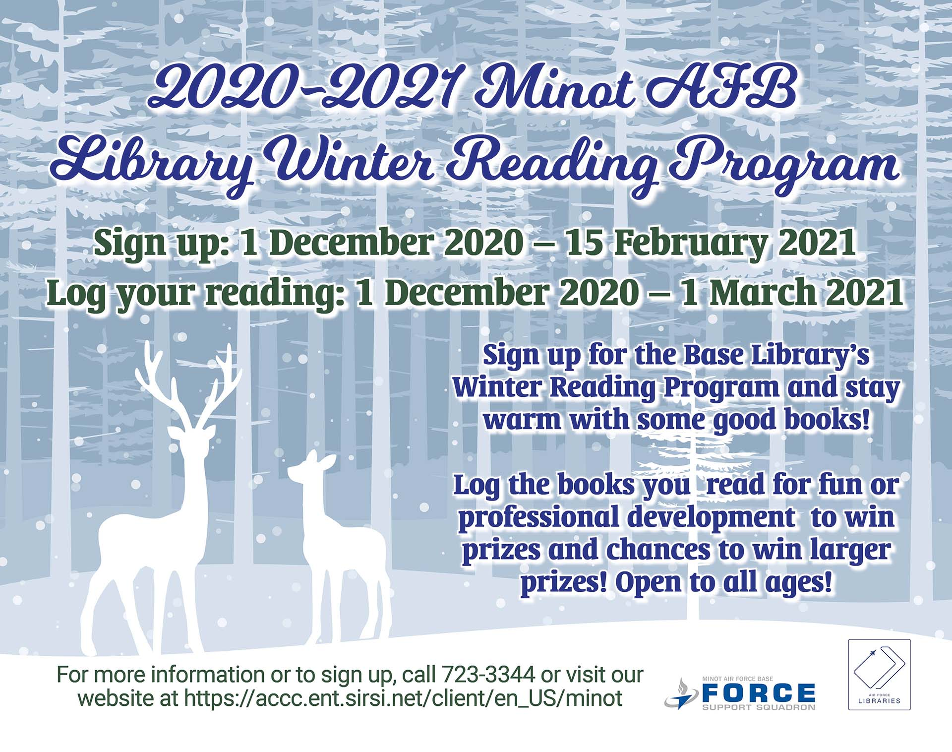Minot AFB Library - Winter Reading Program - Last Day to Log Hours