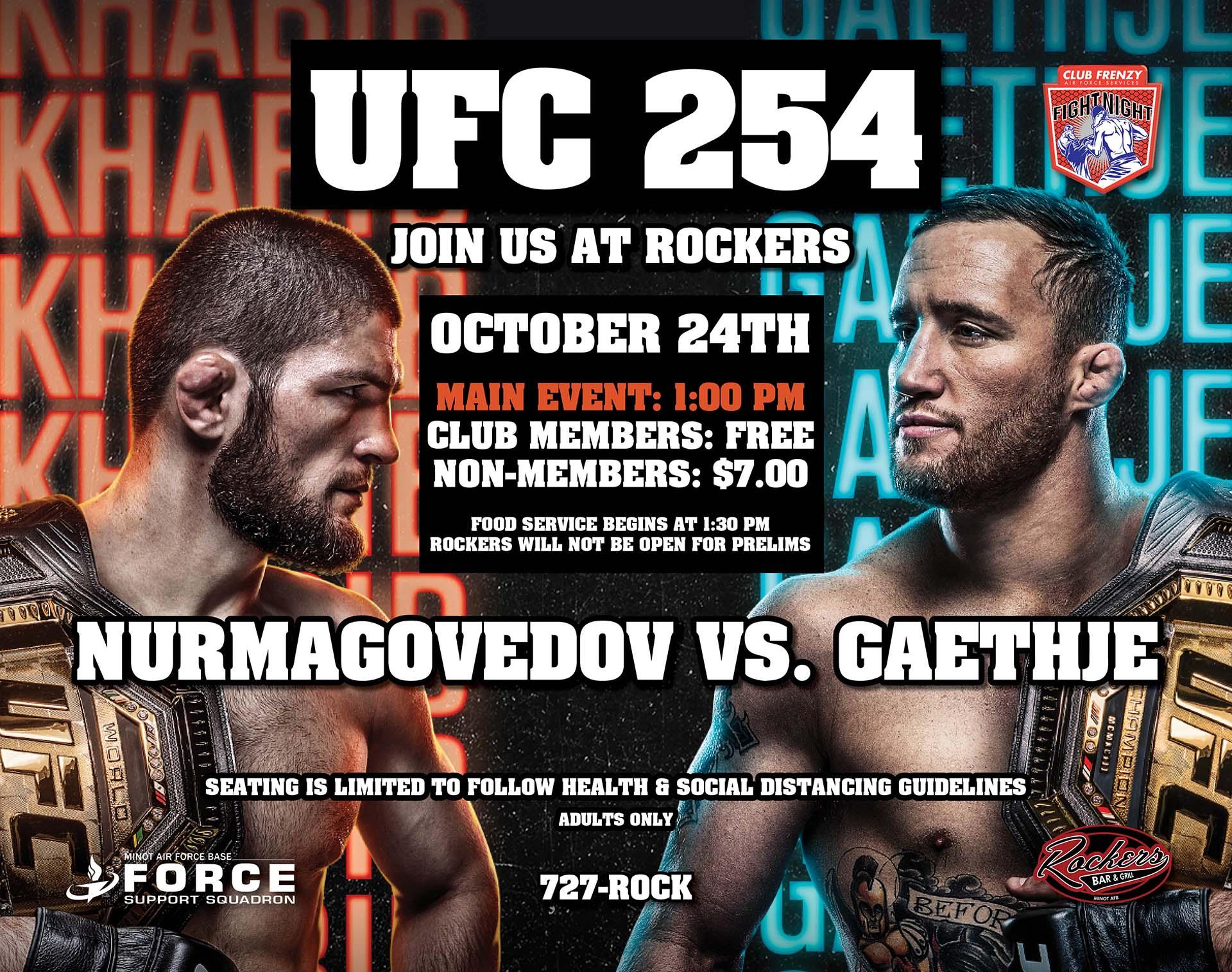 UFC 254: Nurmagomedov vs. Gaethje