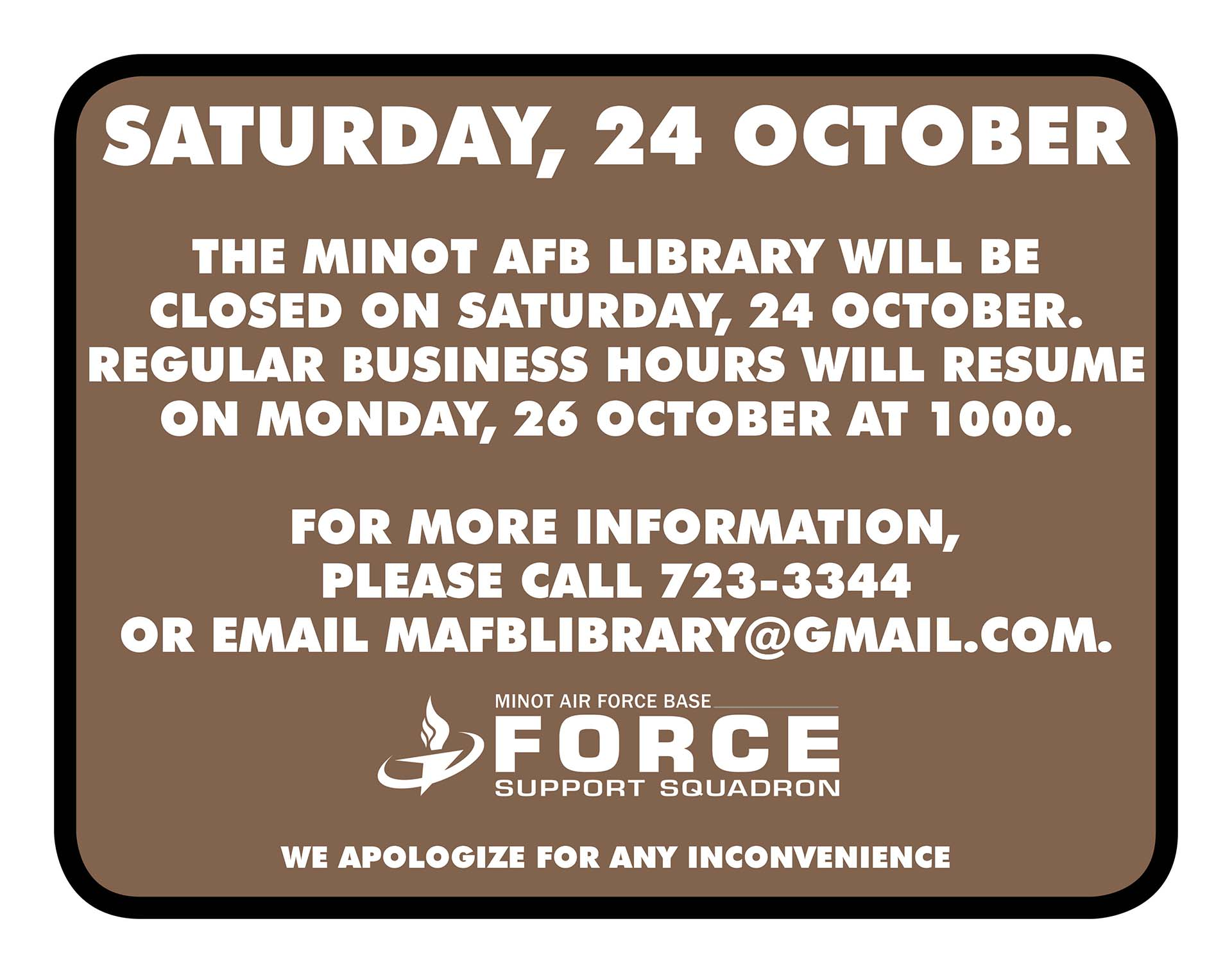 10.24 Library Closed Notice