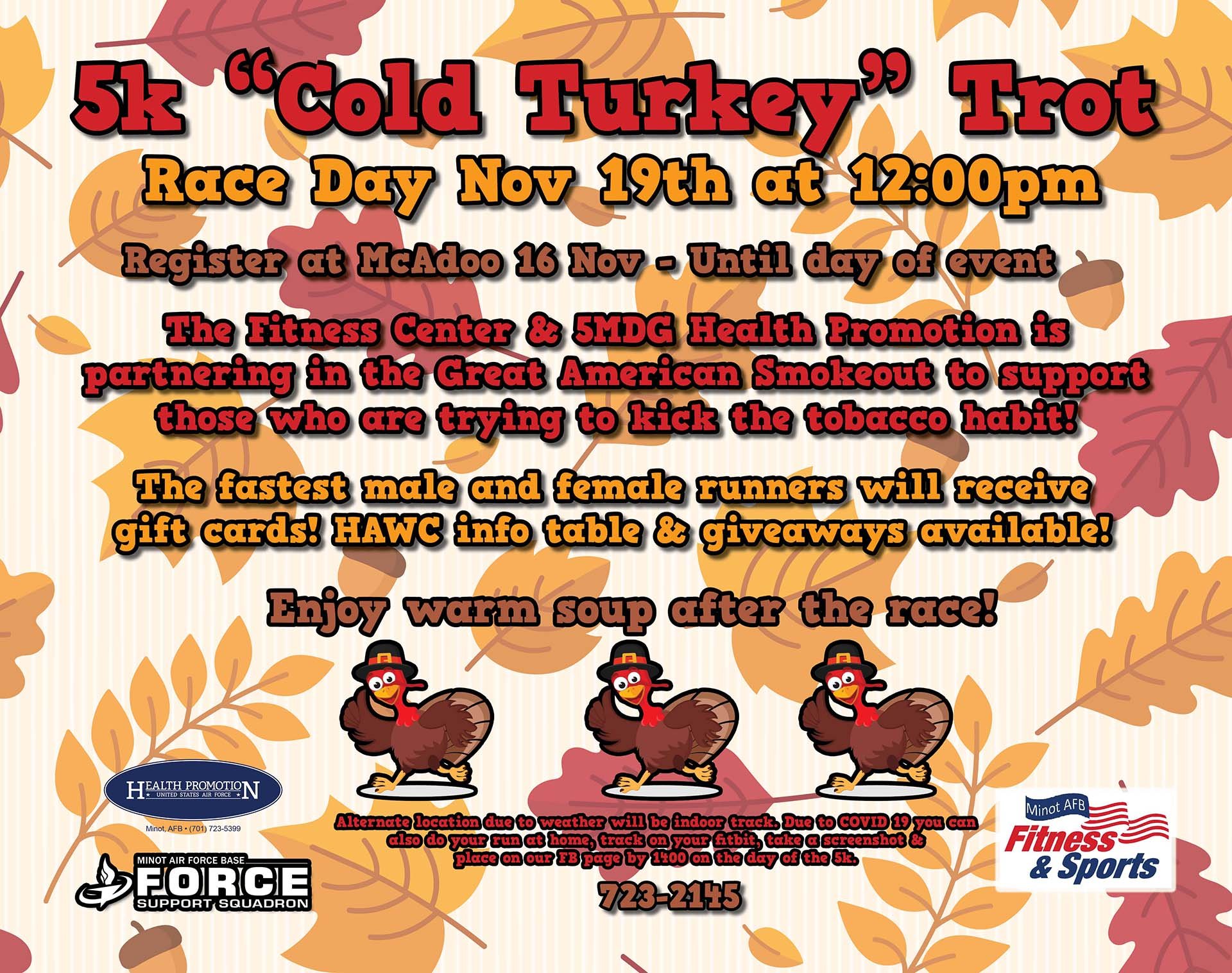 5K Cold Turkey Trot (Great American Smoke Out)