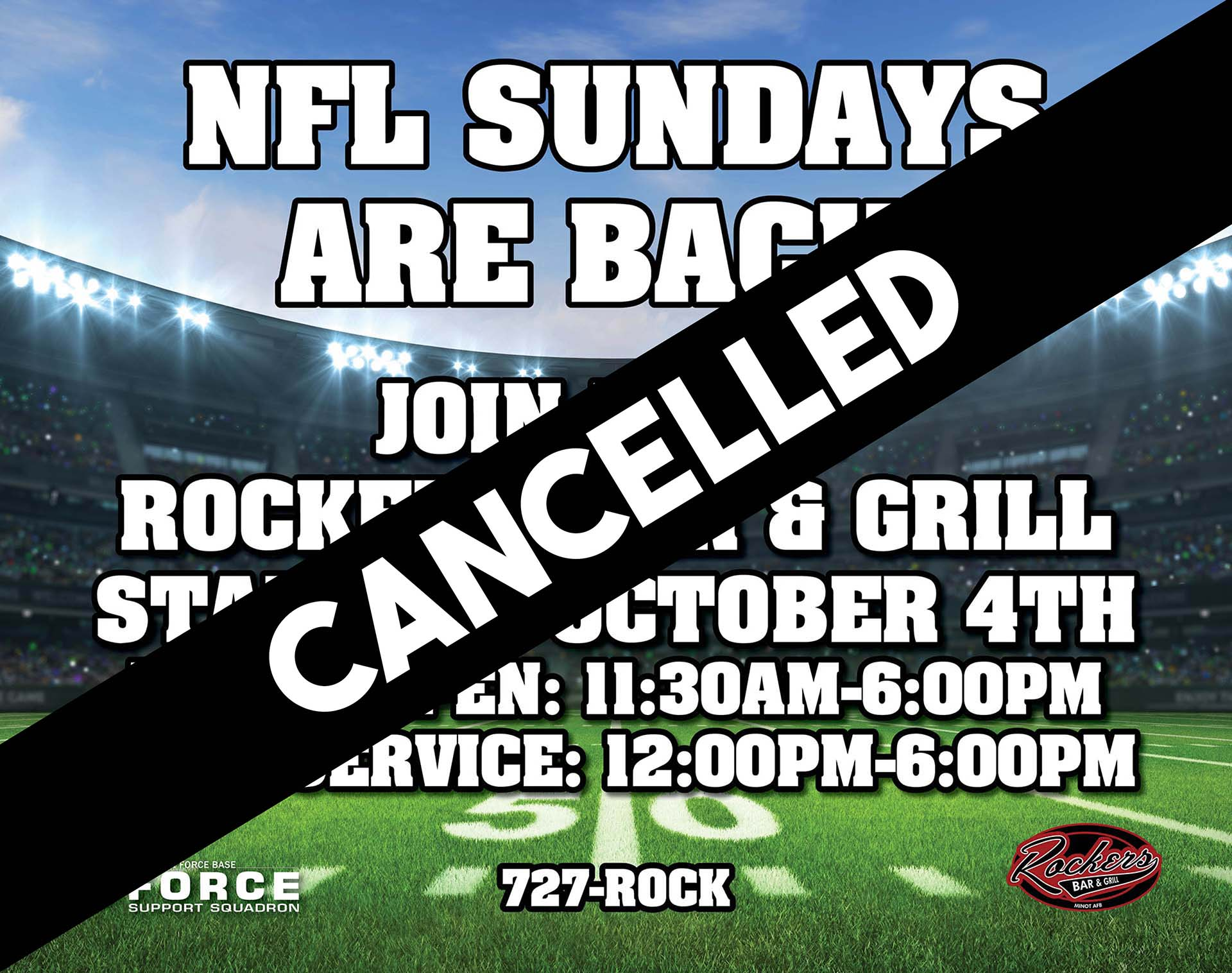 NFL Sunday Ticket - CANCELLED