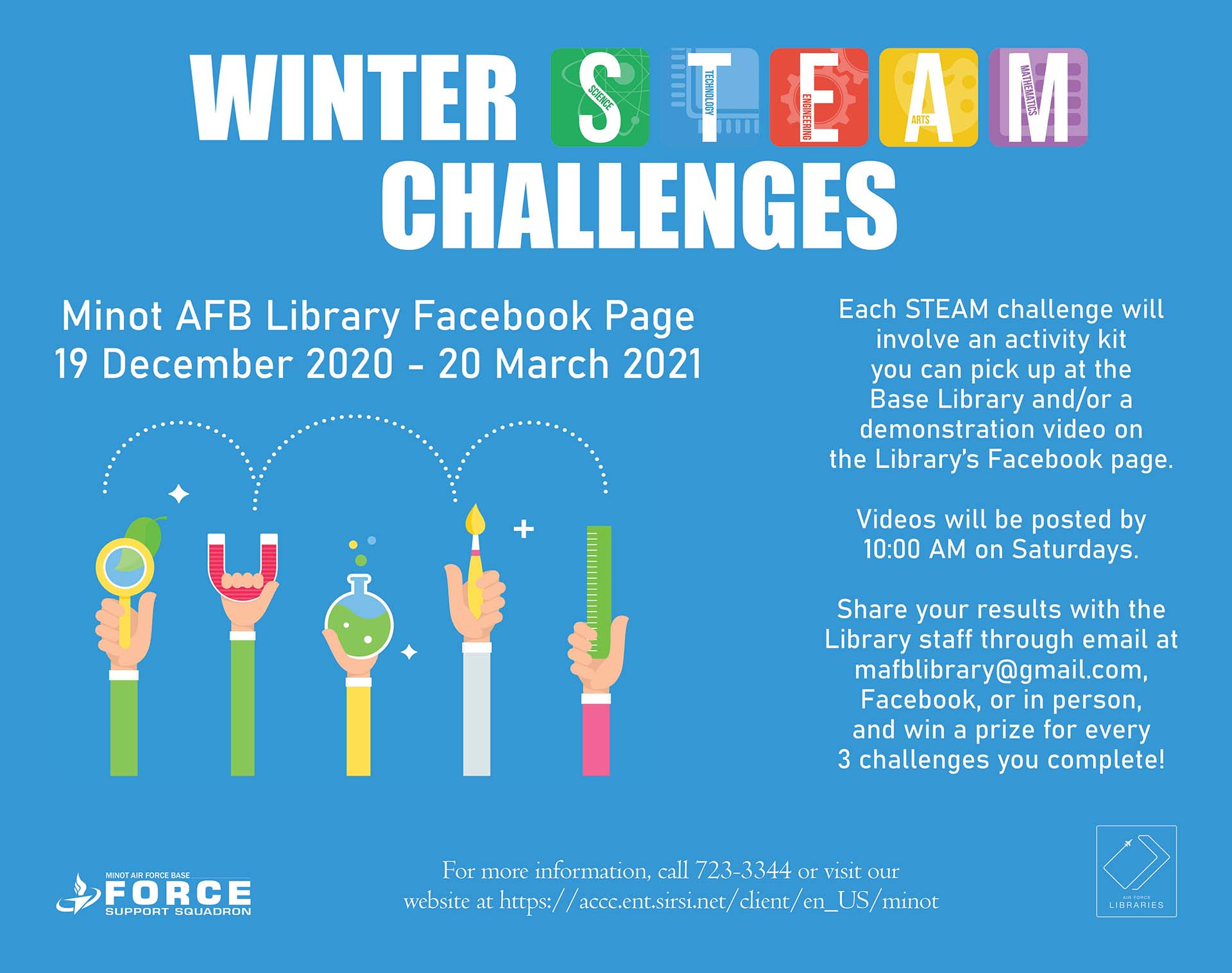 Winter STEAM Challenges - ONLINE