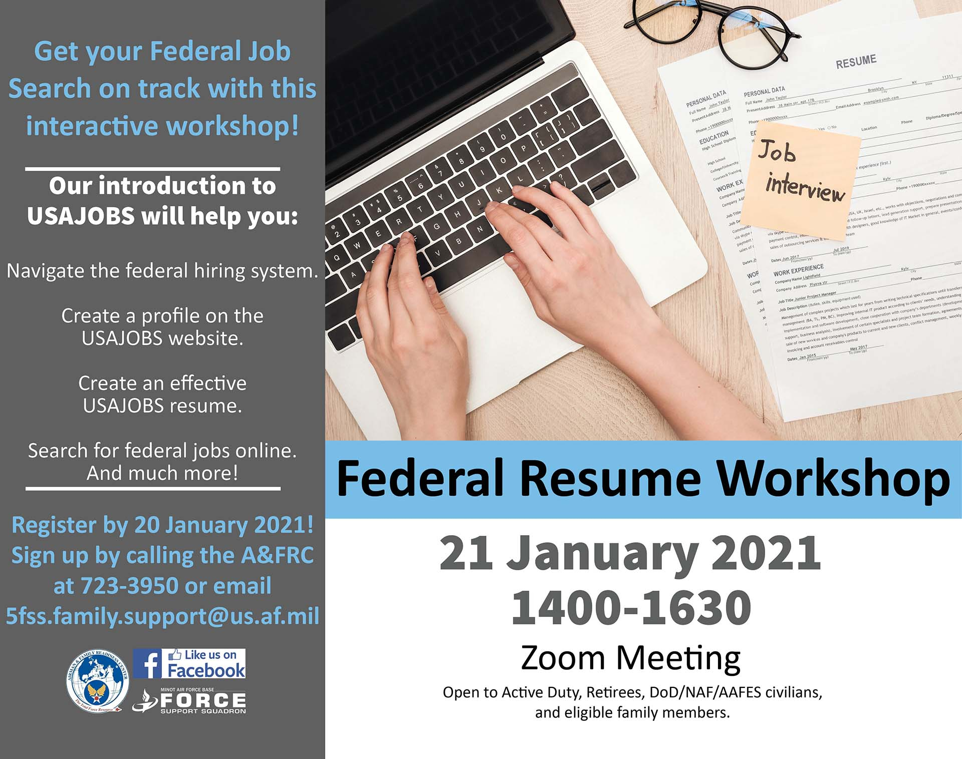 Federal Resume Workshop – ONLINE