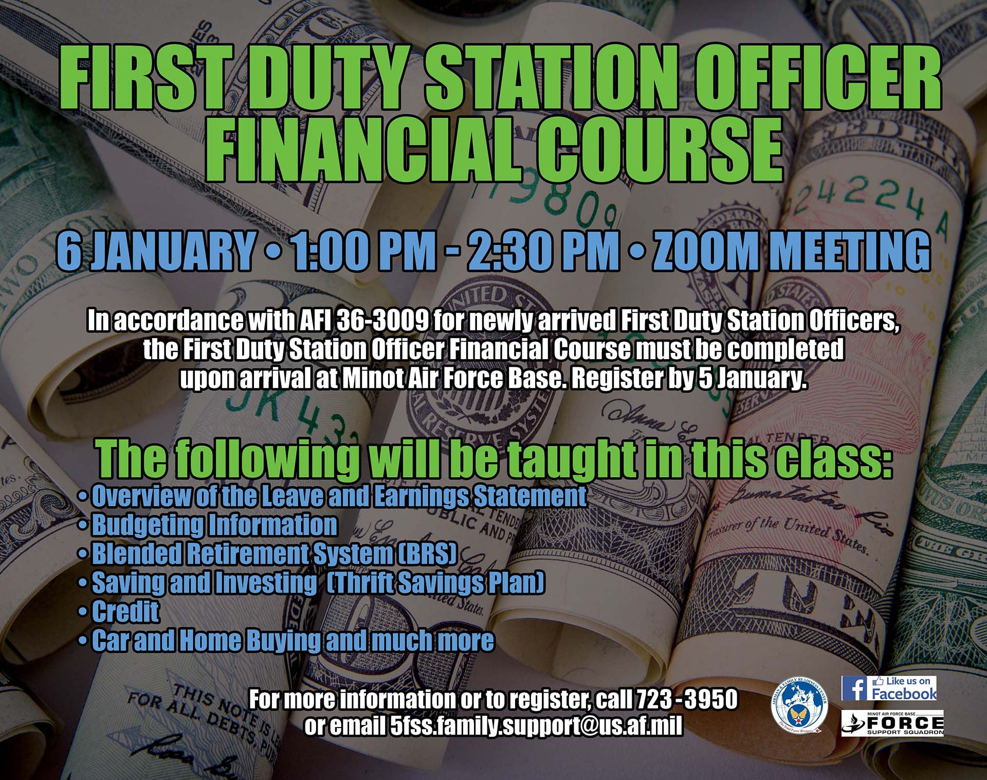 First Duty Station Officer Financial Course - ONLINE