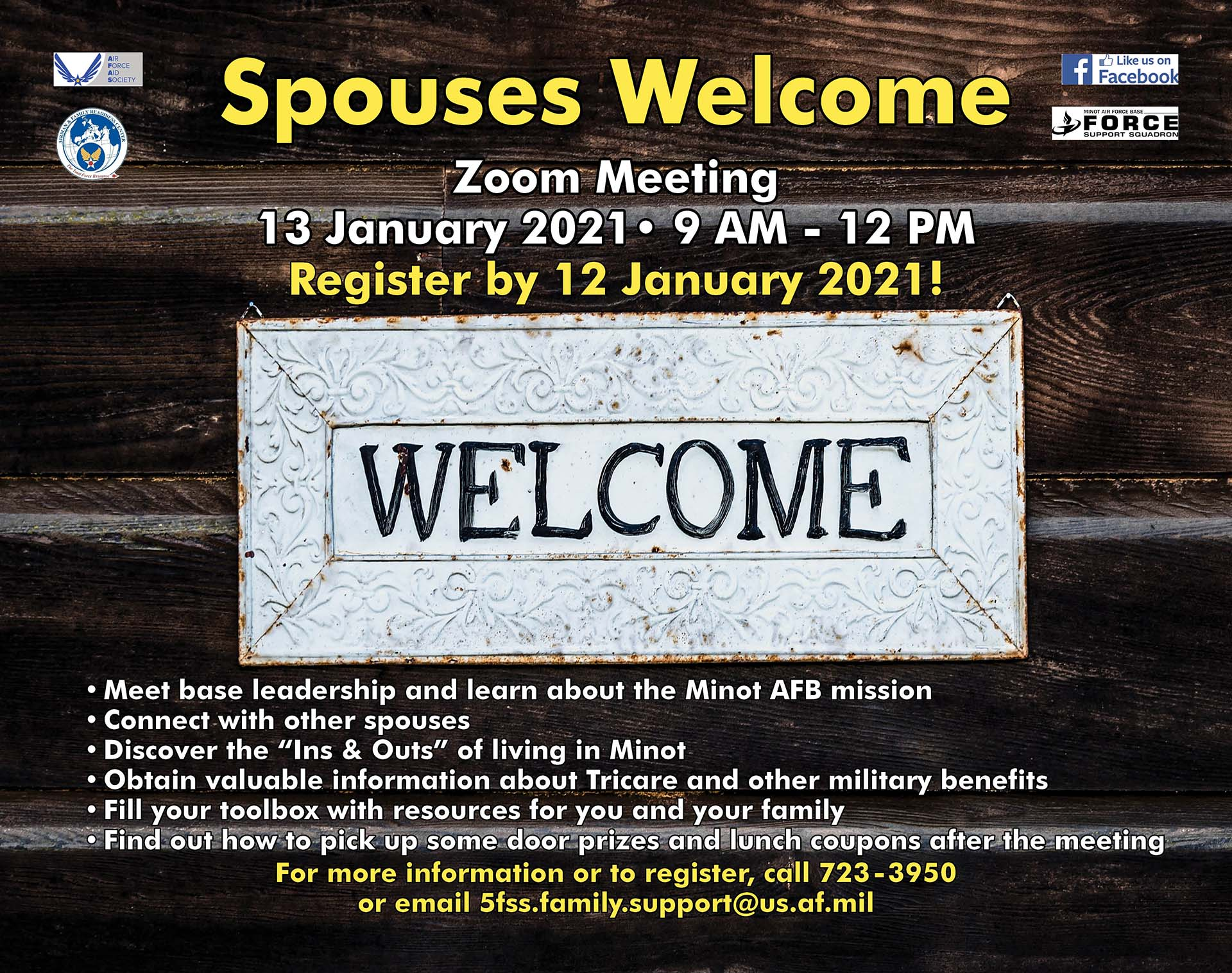 Spouses Welcome – ONLINE