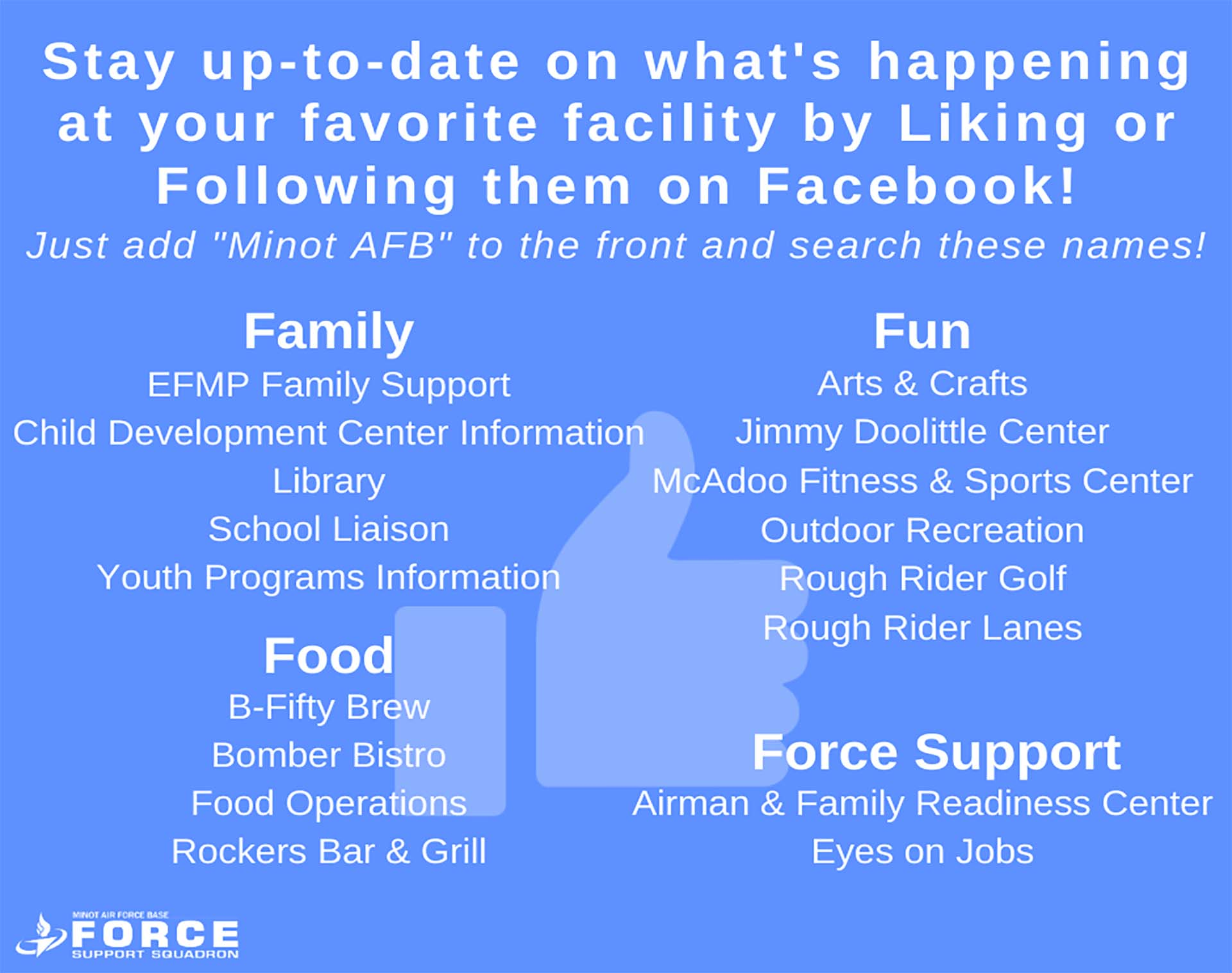 Follow Us On Facebook - Nov 2020