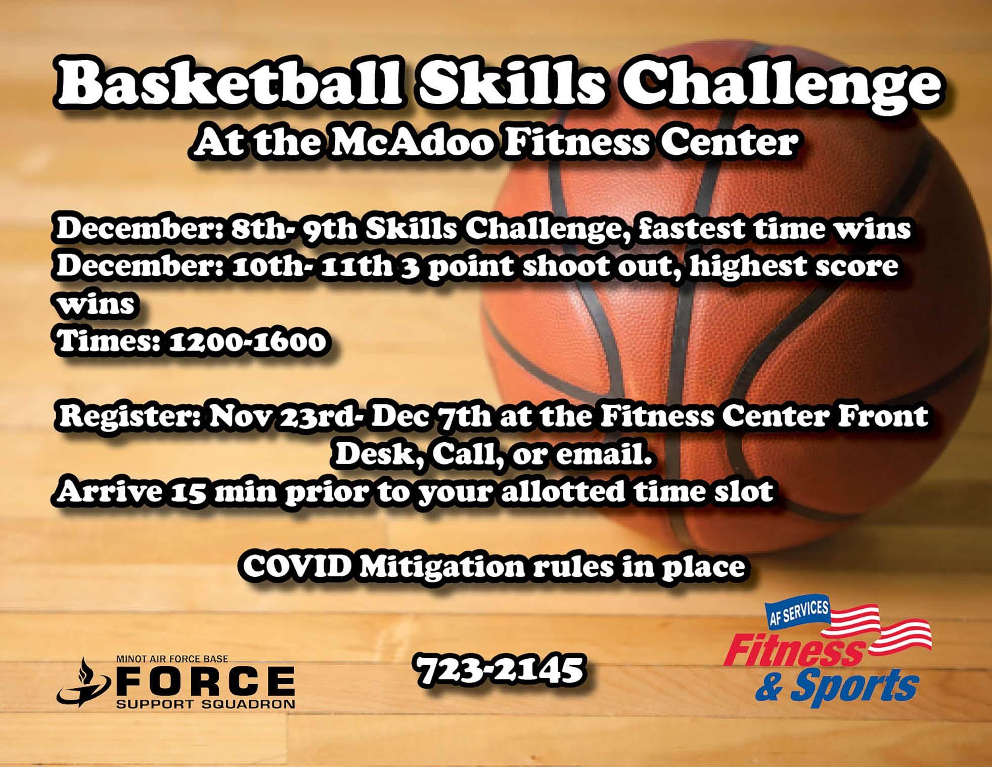Registration Closes: Basketball Skills Challenge