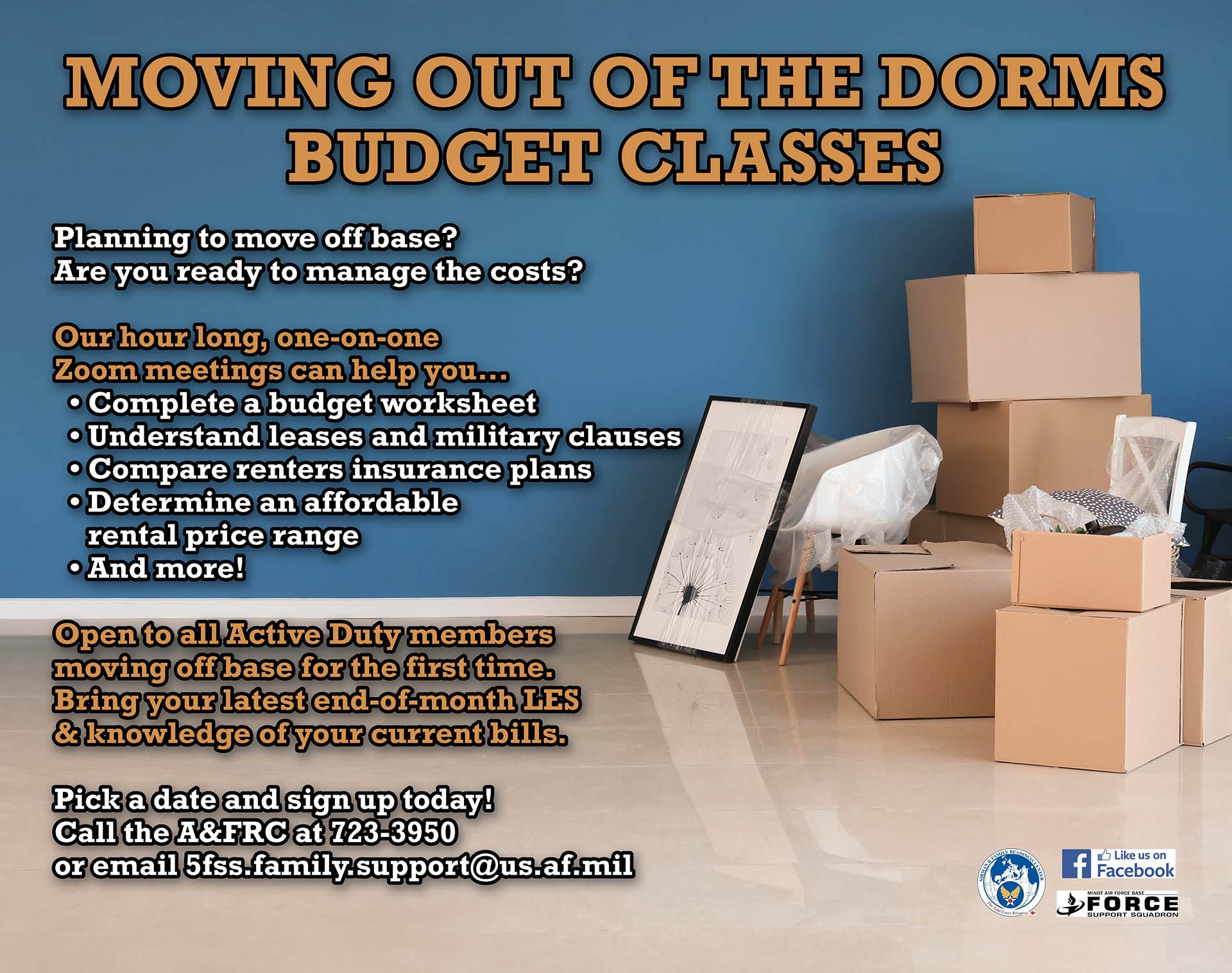 Moving Out of the Dorms Budget Classes