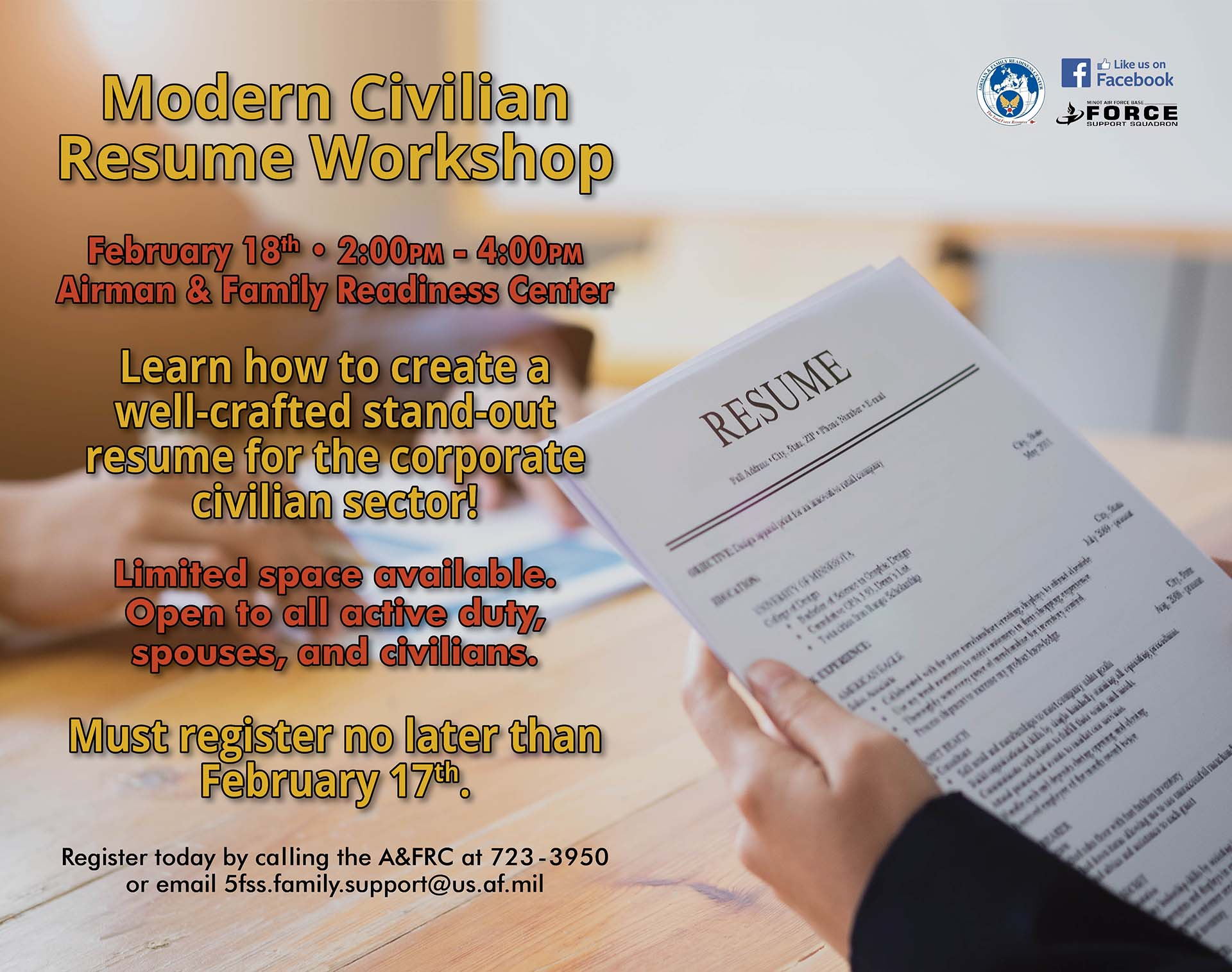 Modern Civilian Resume Workshop