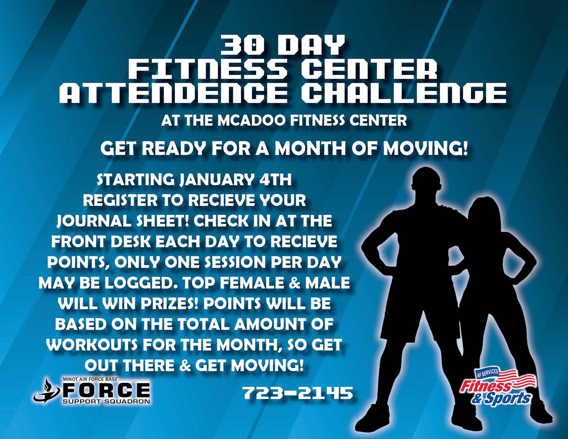 30 Day Fitness Center Attendance Challenge- Jan 21 (1)