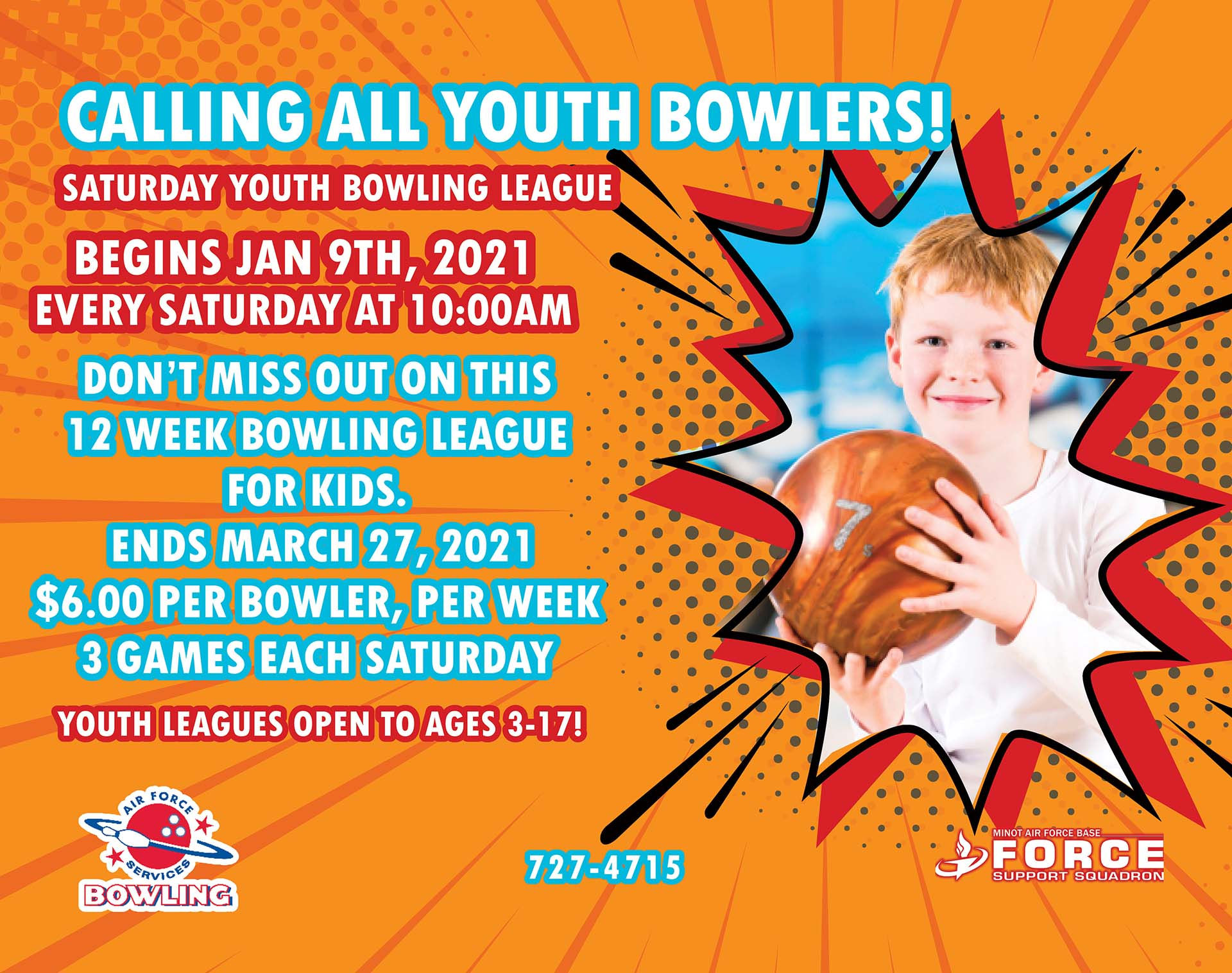 Rough Rider Lanes Youth Bowling League