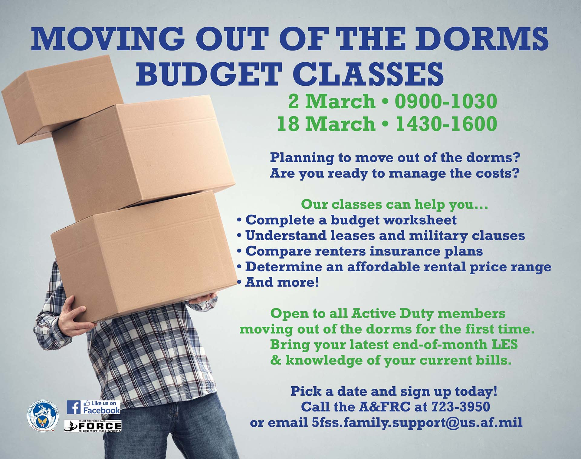 Moving Out of the Dorms Budget Class