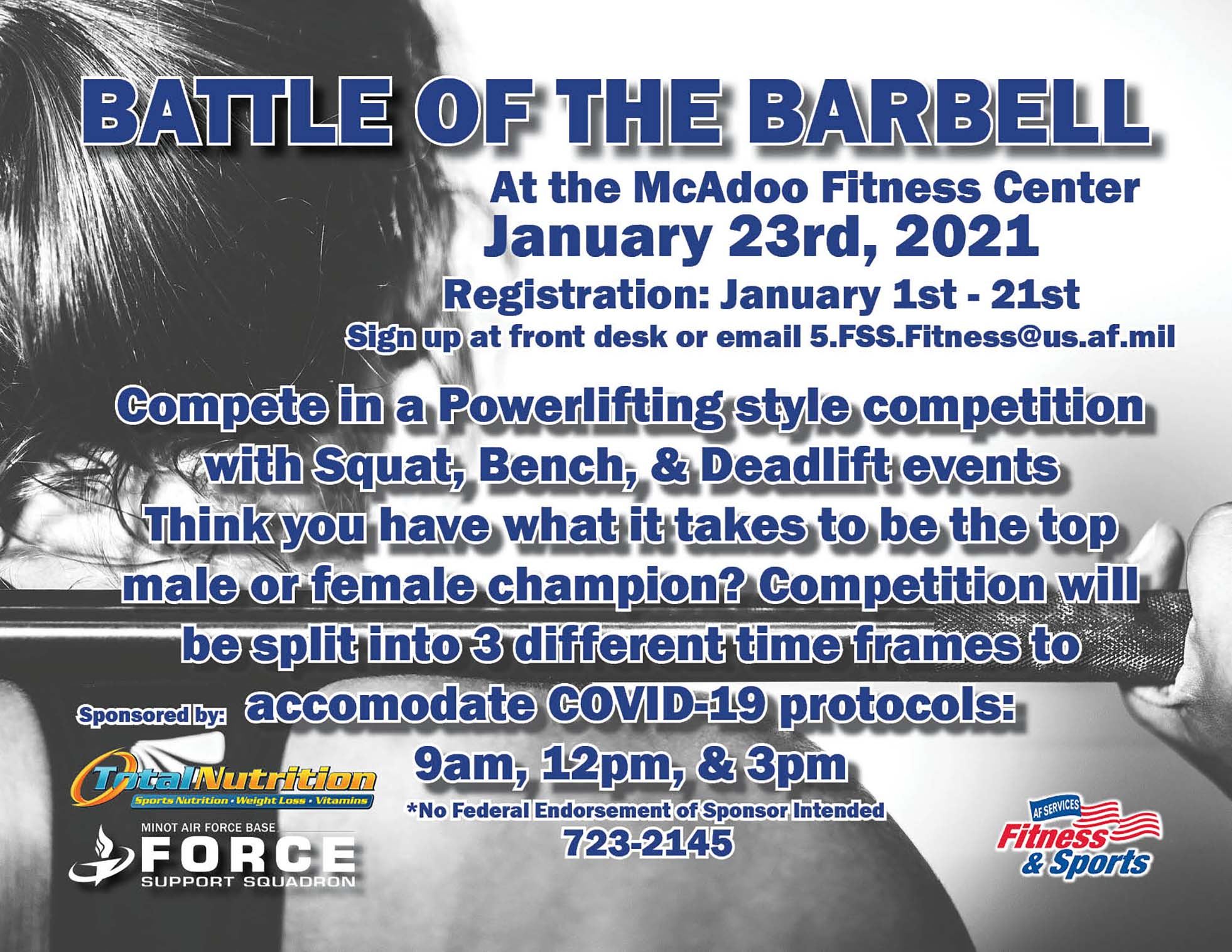 Registration Ends: Battle of the Barbell