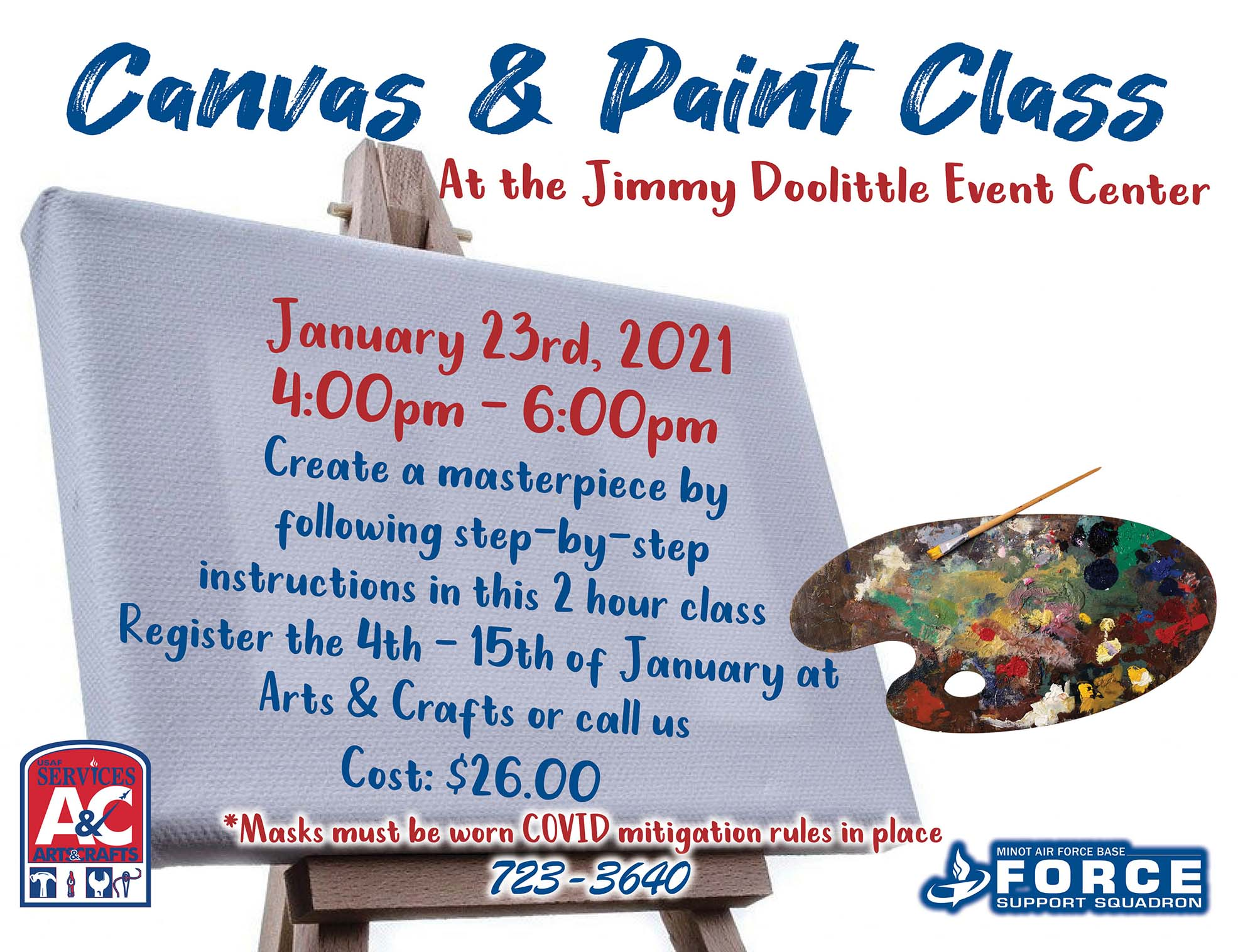 Registration Begins: Canvas & Paint Class