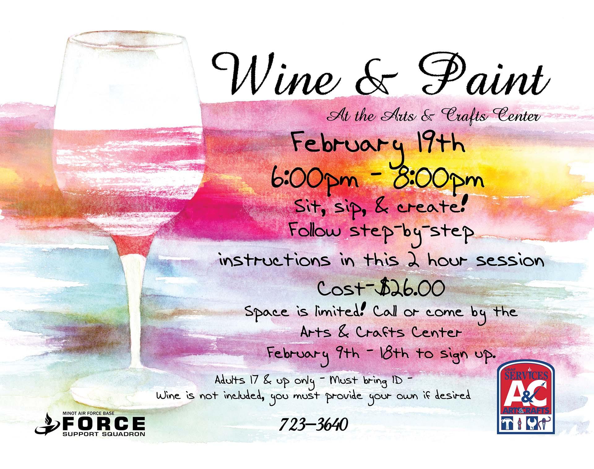 Registration Closes: Wine & Paint Class