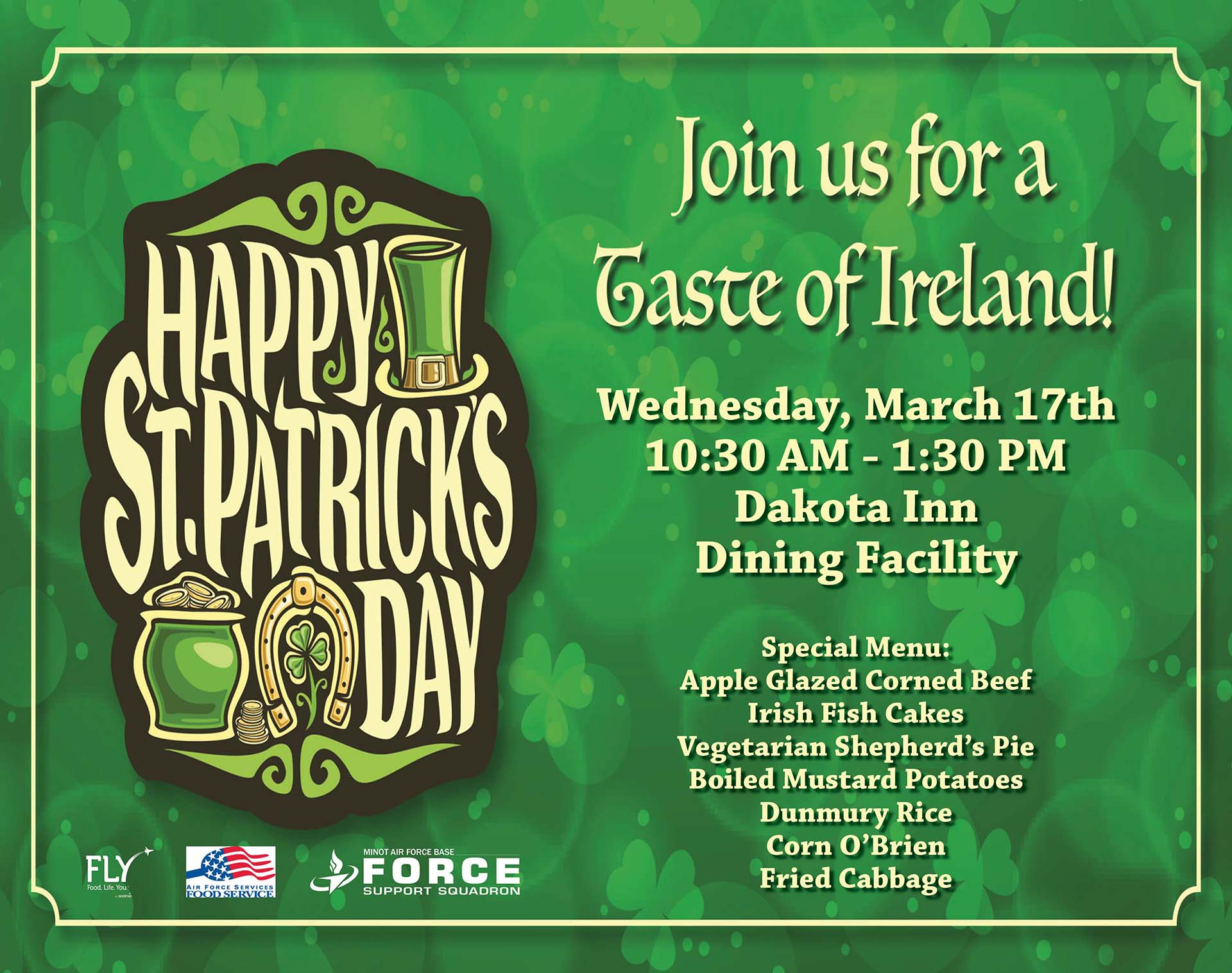 St. Patrick's Day Special Lunch