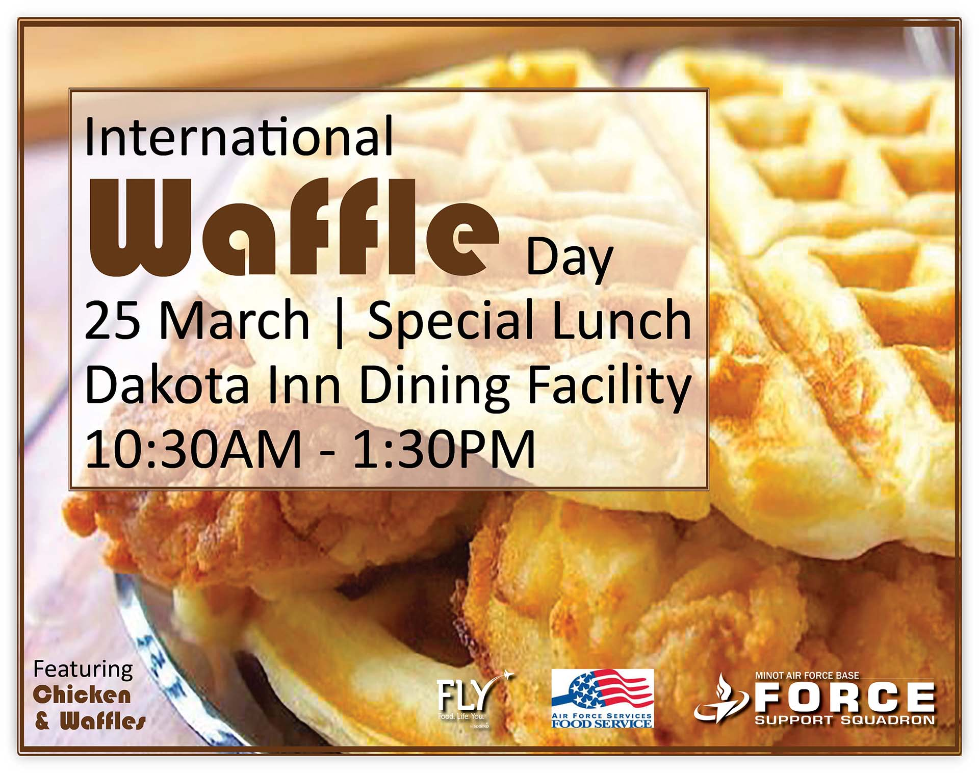 International Waffle Day Special Lunch