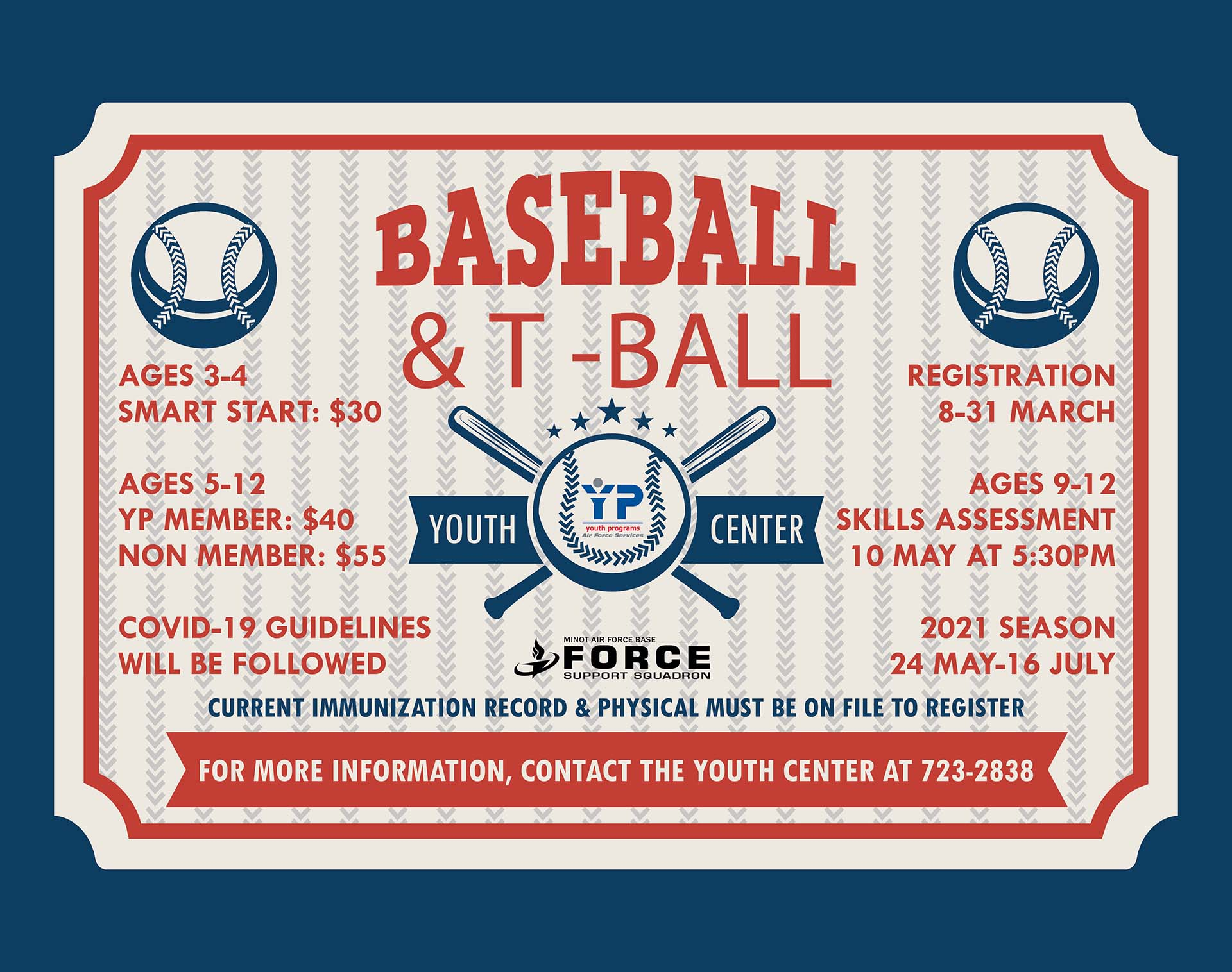 Registration Closes: Youth Baseball & T-Ball