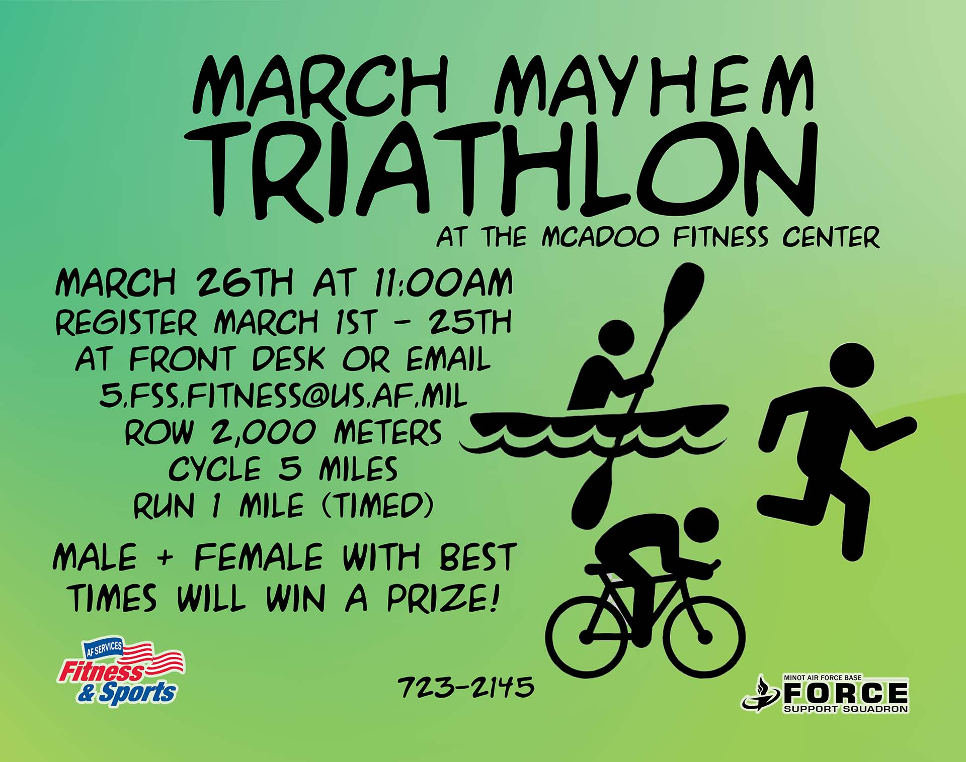 Registration Begins: March Mayhem Triathlon