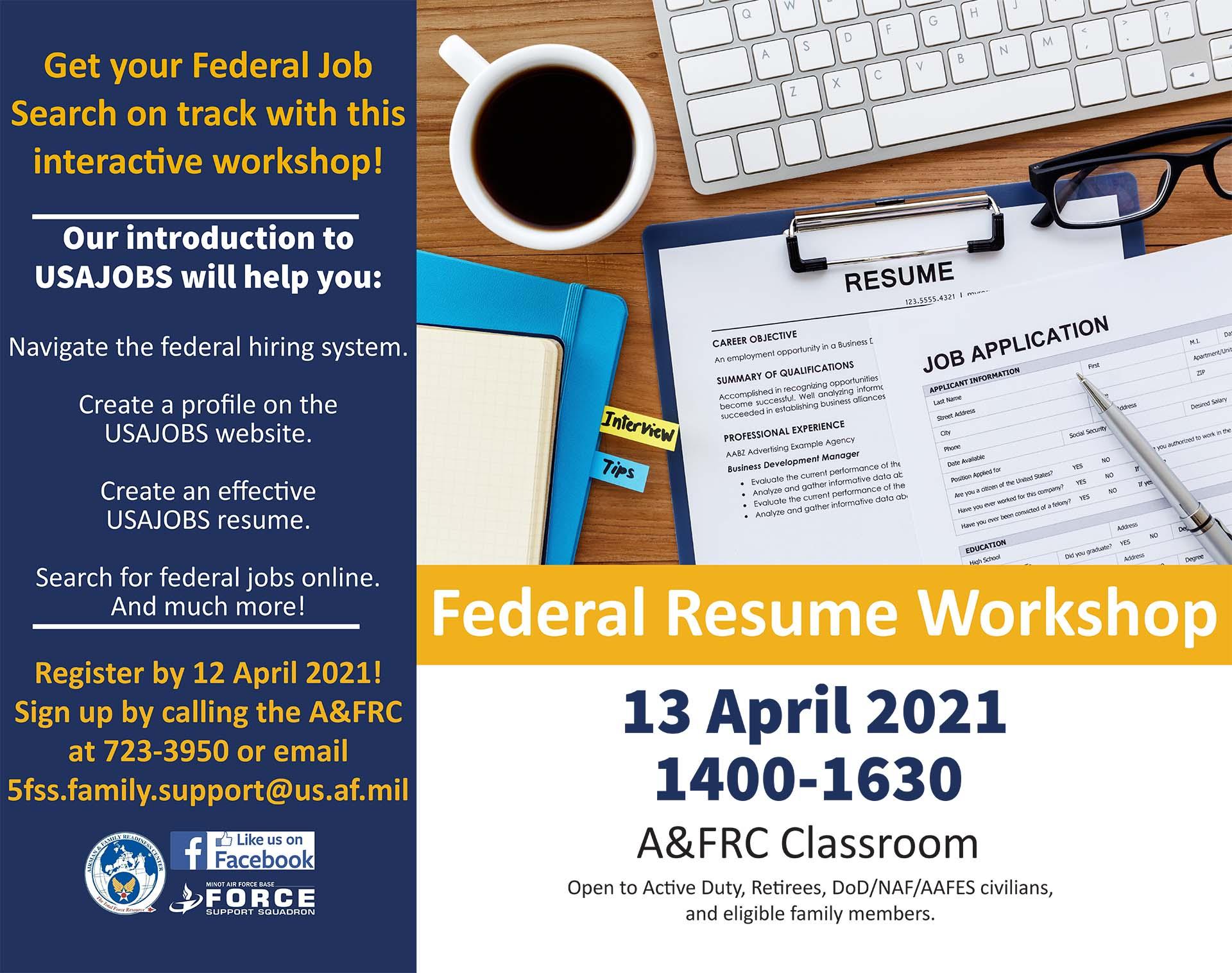 Federal Resume Workshop