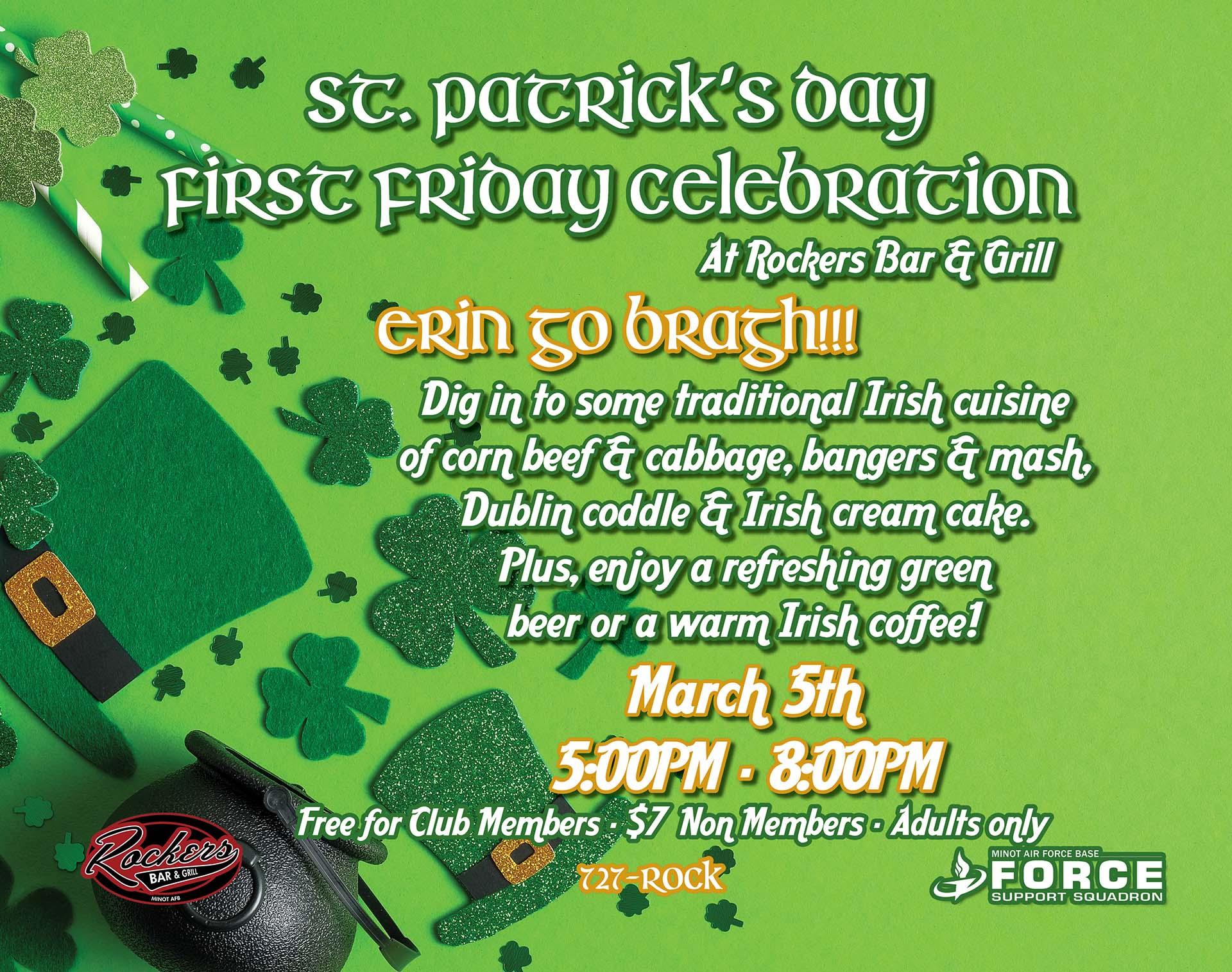 03.05 First Friday St. Patricks Day