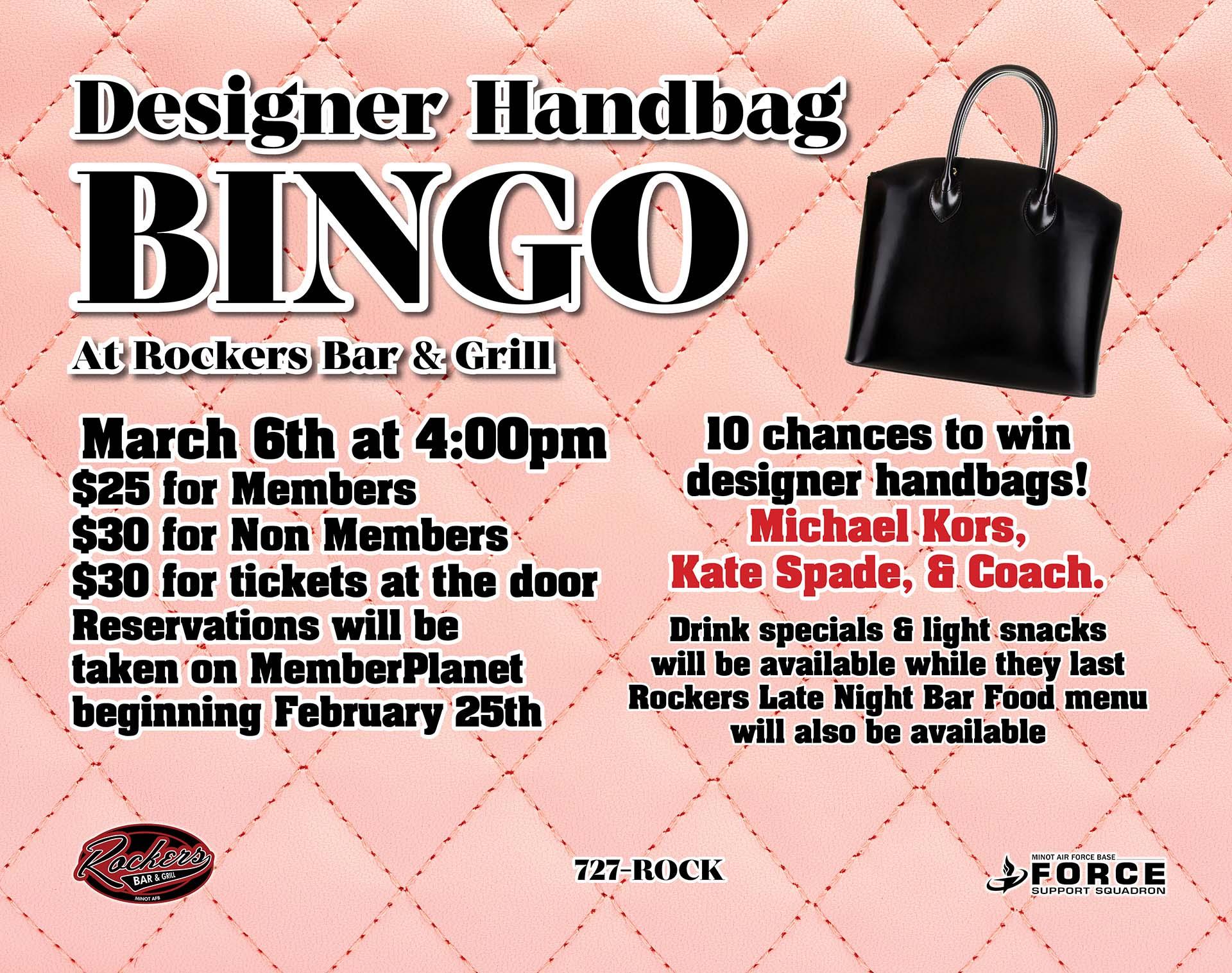 03.06 Designer Bag Bingo