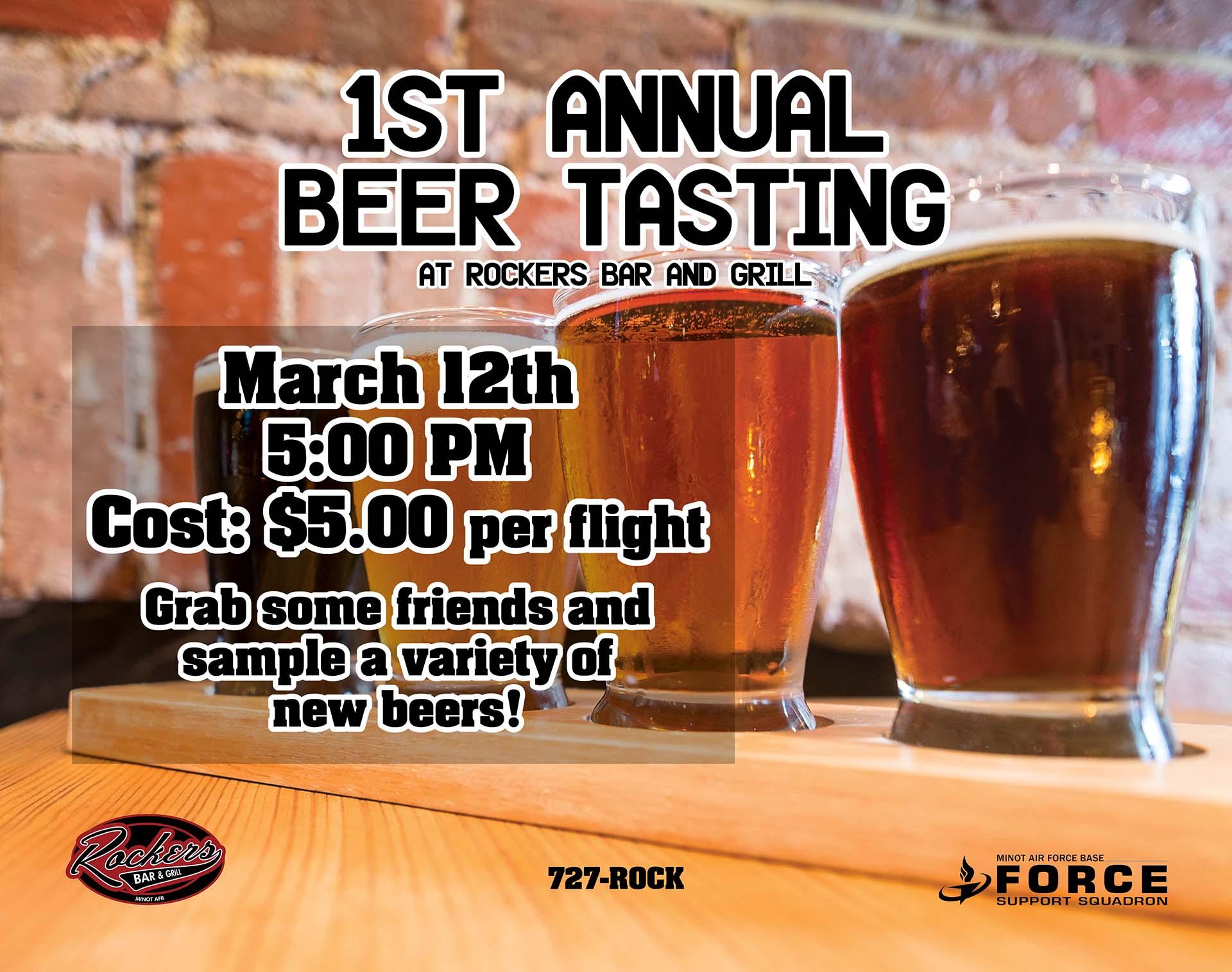 1st Annual Beer Tasting