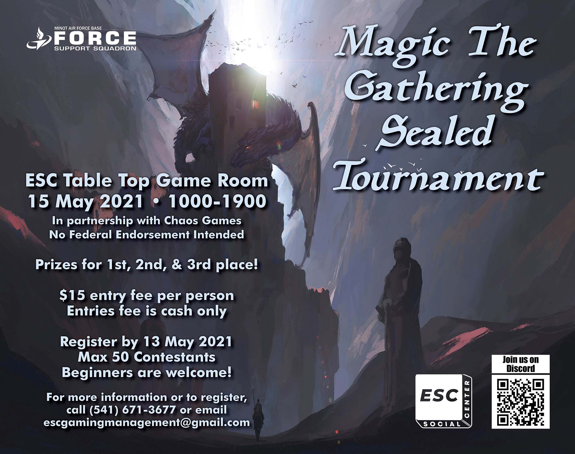 05.15 Magic the Gathering Sealed Draft Tournament