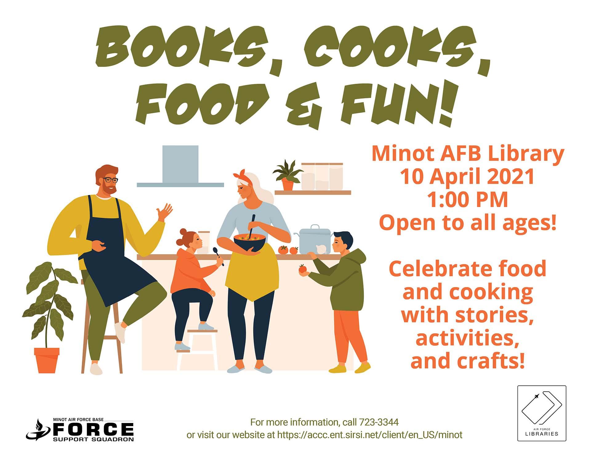 Books, Cooks, Food and Fun!