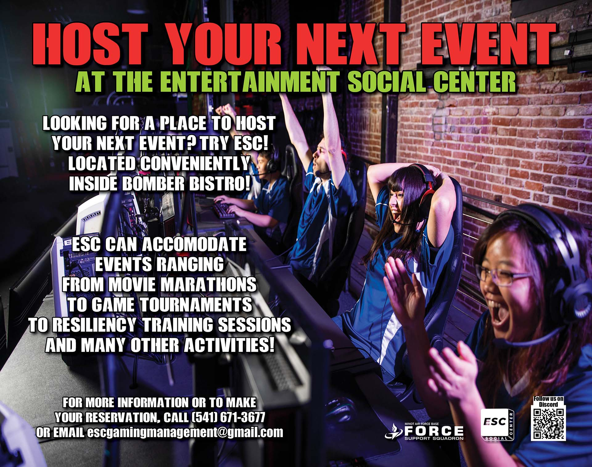 ESC - Event Hosting