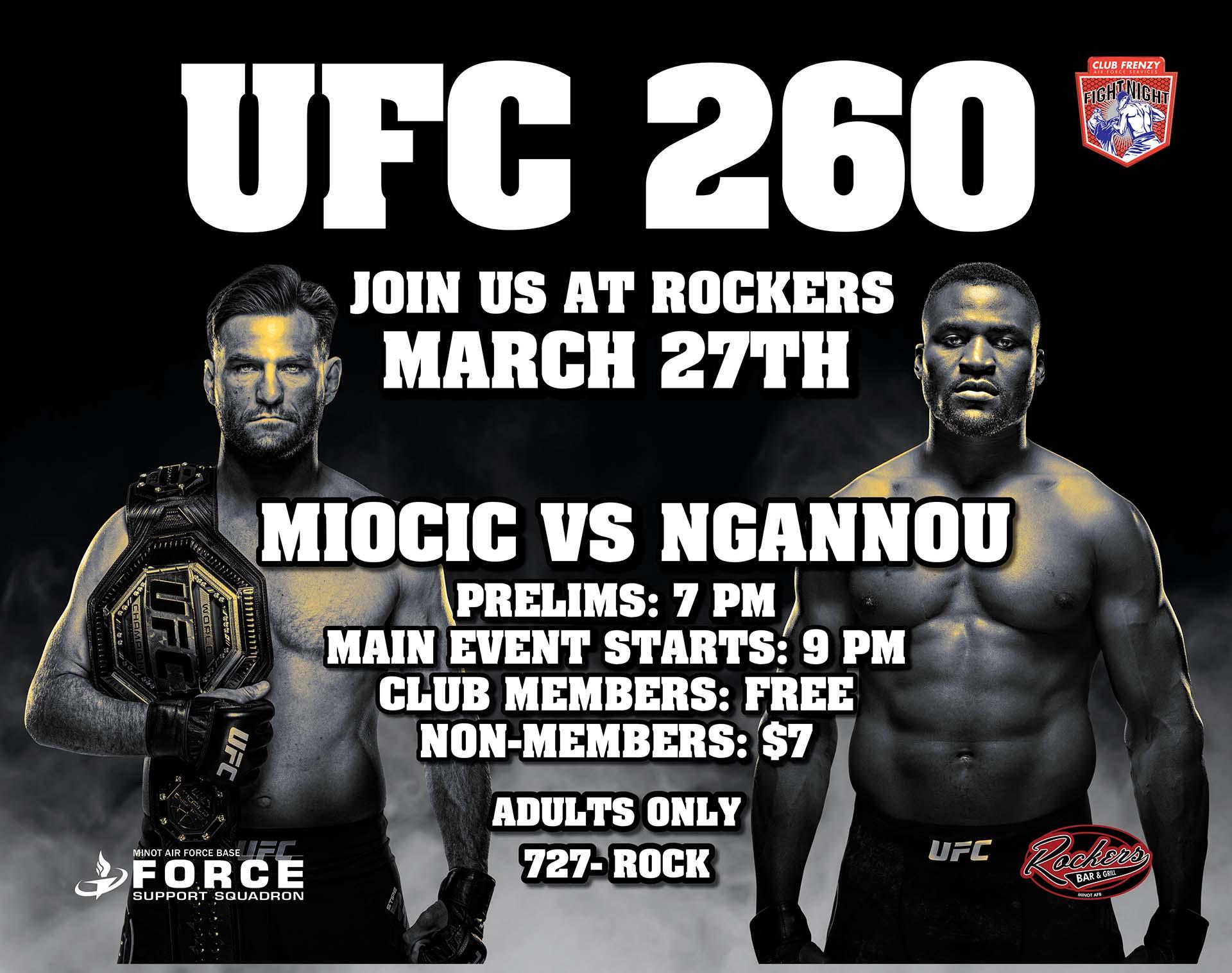 UFC 260: Miocic vs Ngannou