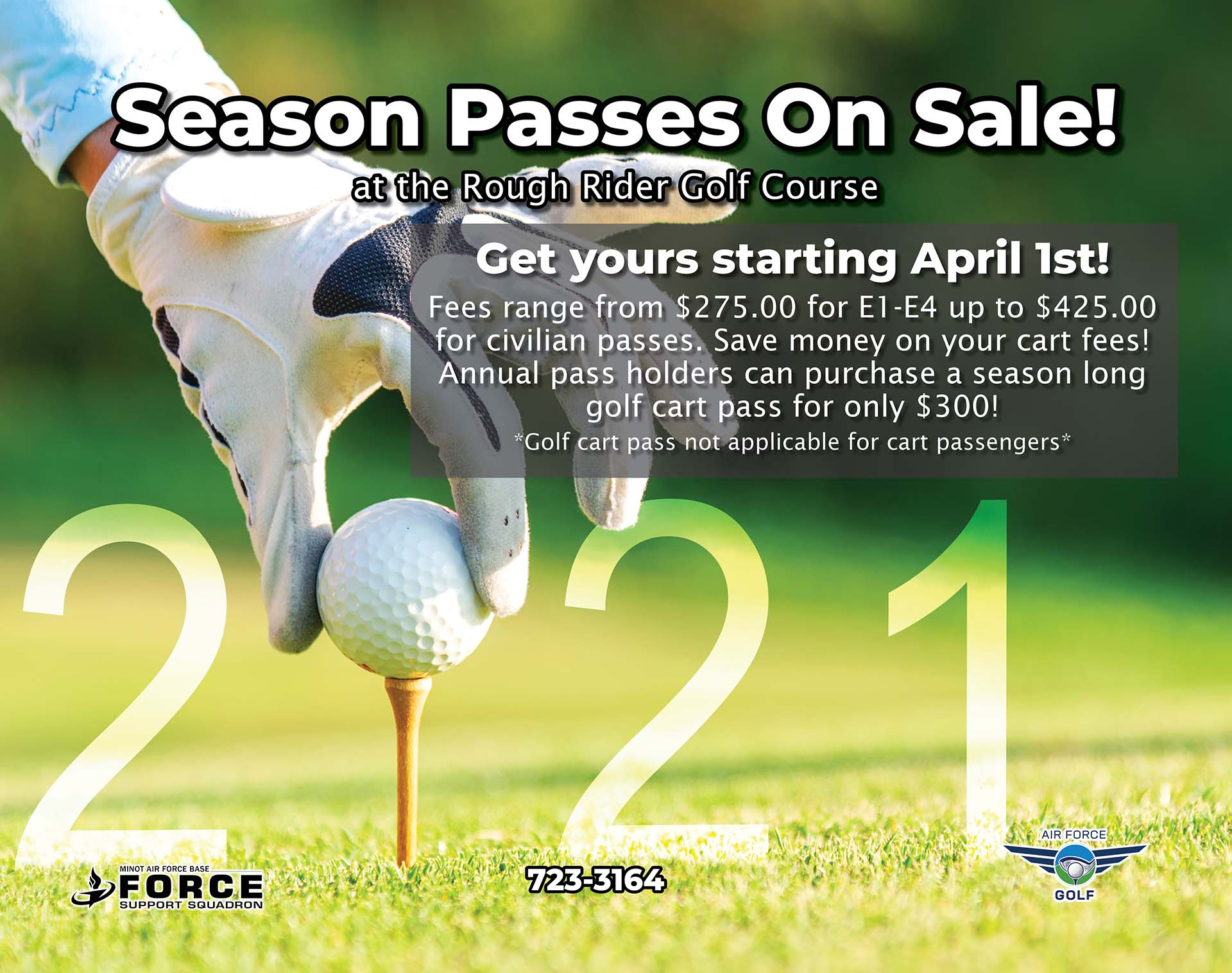 Golf Season Passes Available