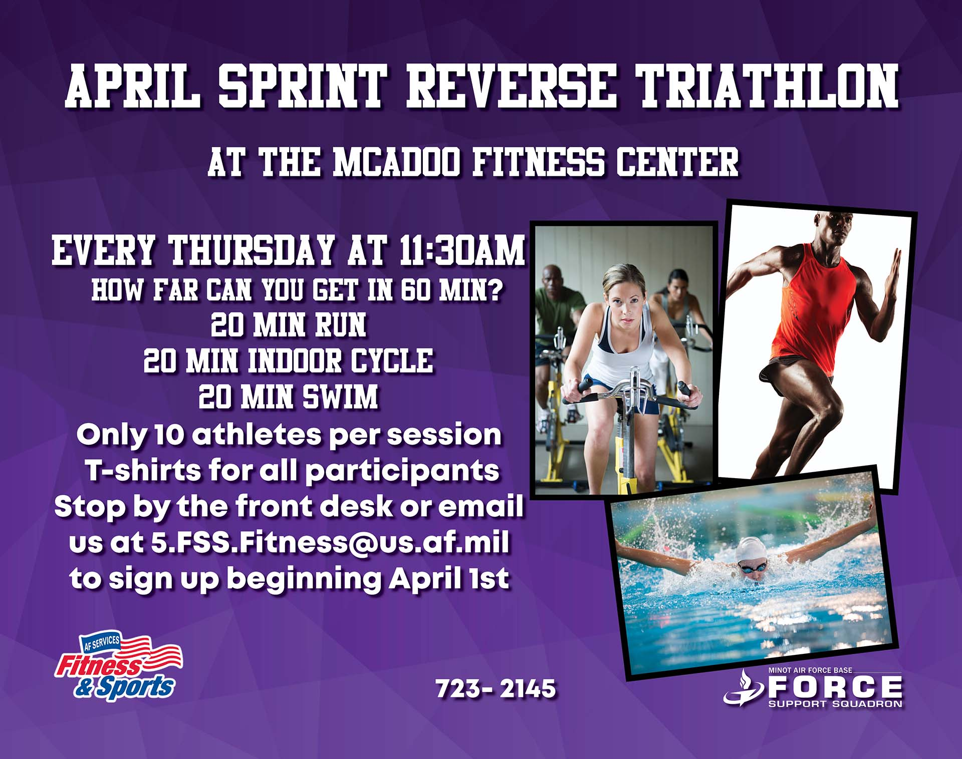 Registration Opens: April Sprint Reverse Triathlon