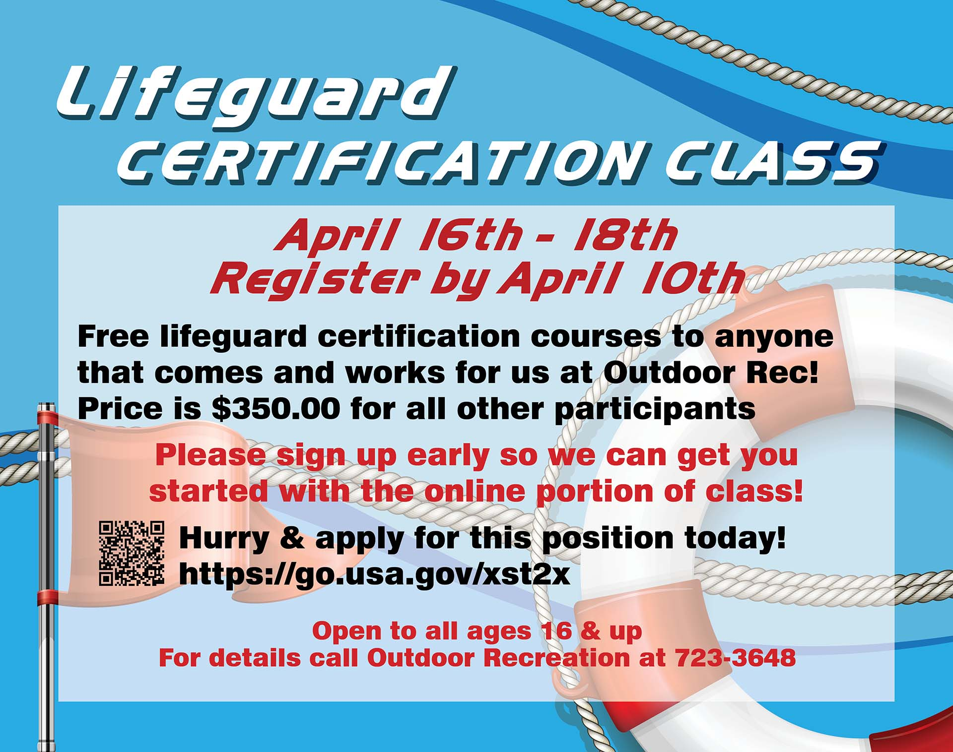 Registration Ends: Lifeguard Certification Class