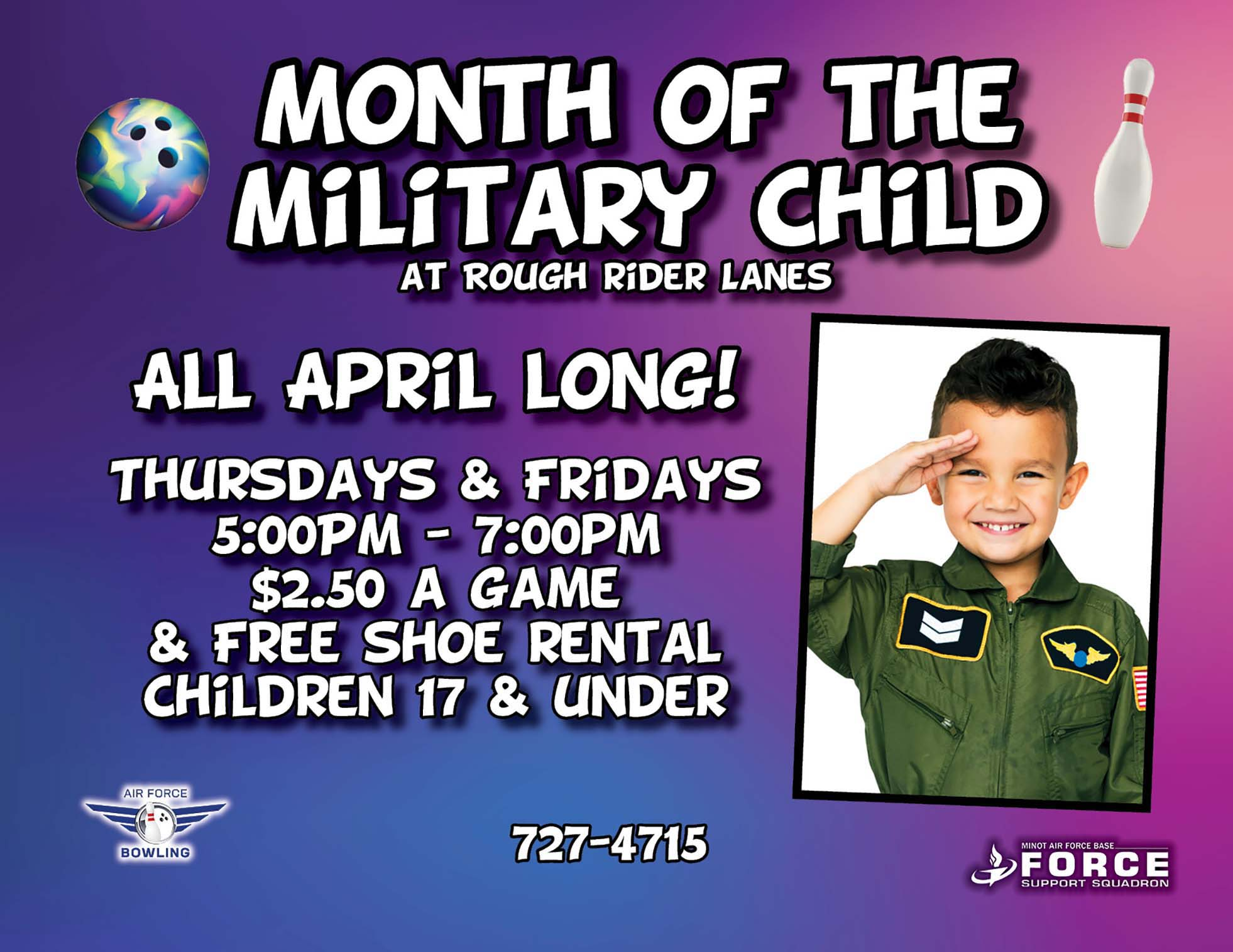 Month of the Military Child Bowl Special- April 21