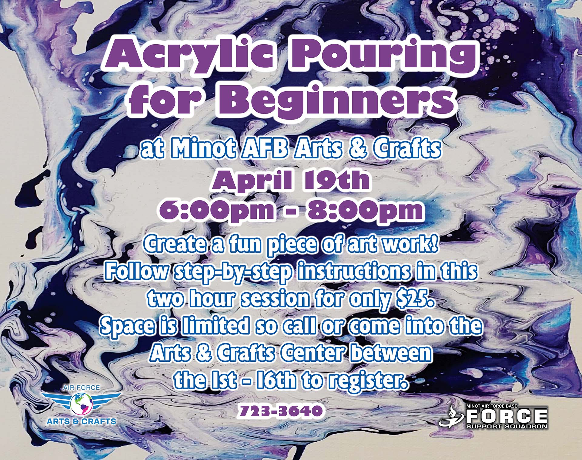 Registration Ends: Acrylic Pouring Class