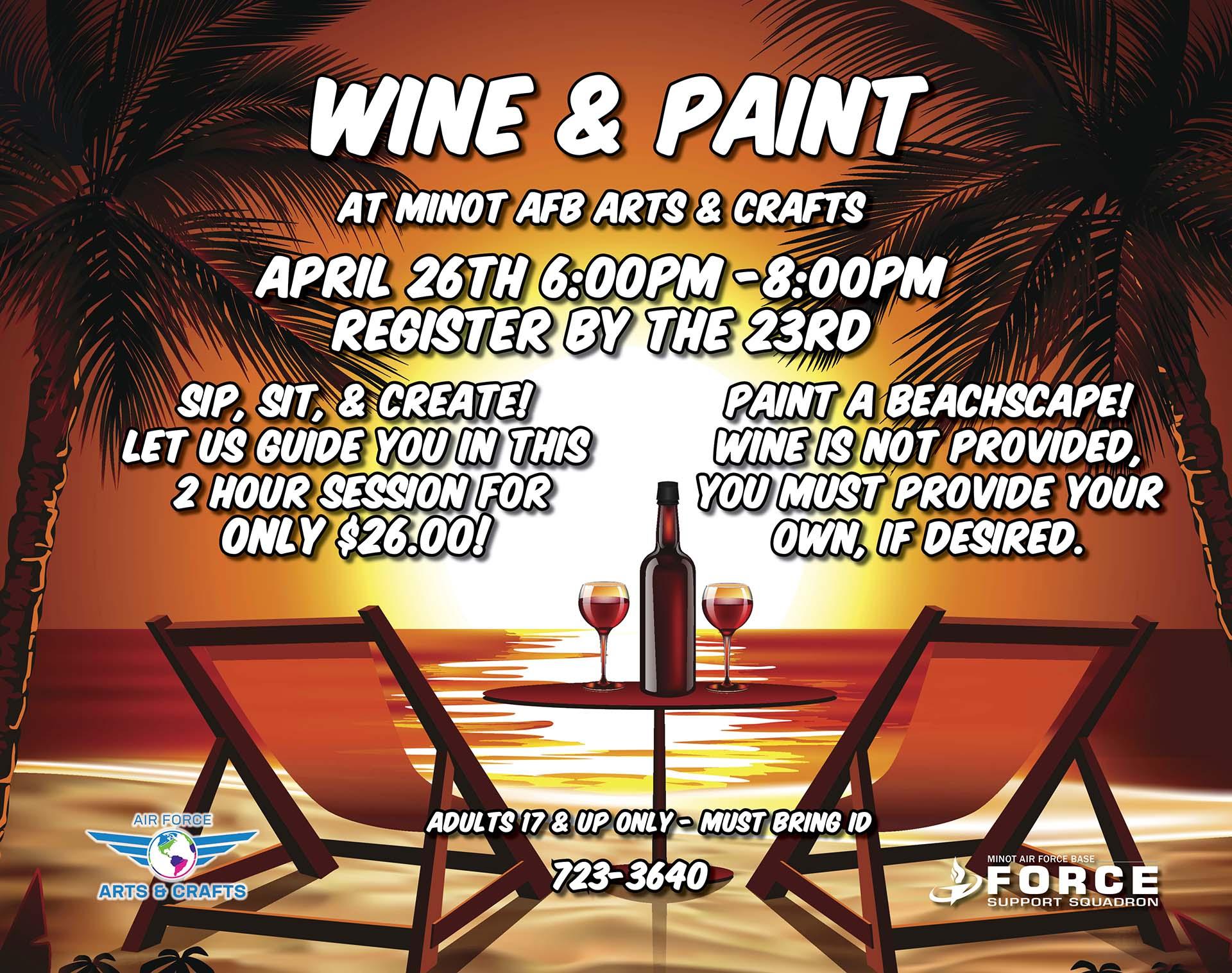 Registration Ends: Wine & Paint Class
