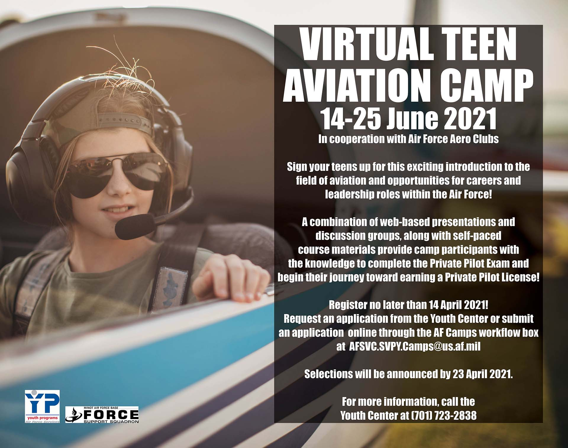 Registration Closes for Virtual Teen Aviation Camp